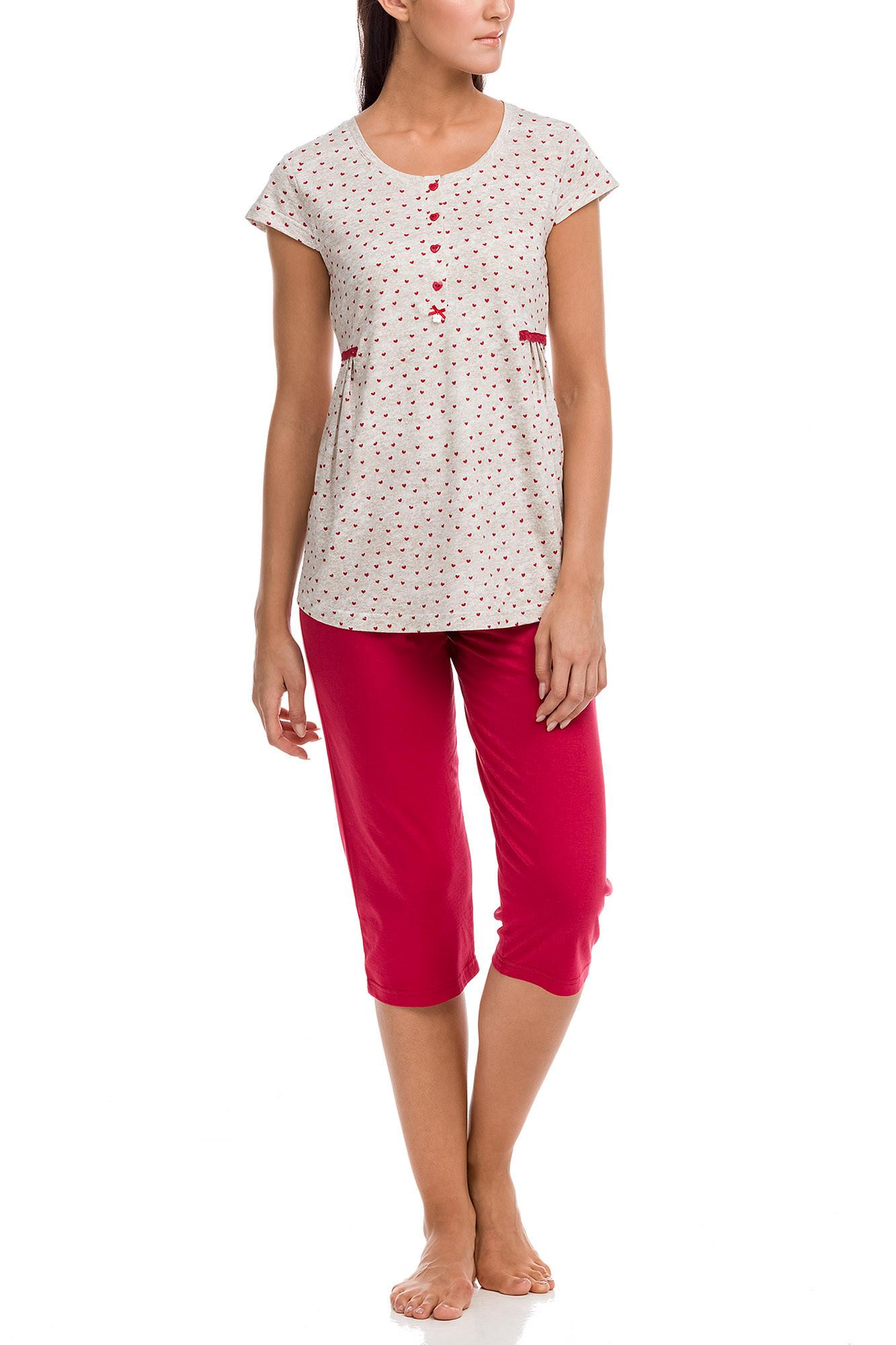 Vamp - Dámske pyžamo 12093 - Vamp beige 4XL
