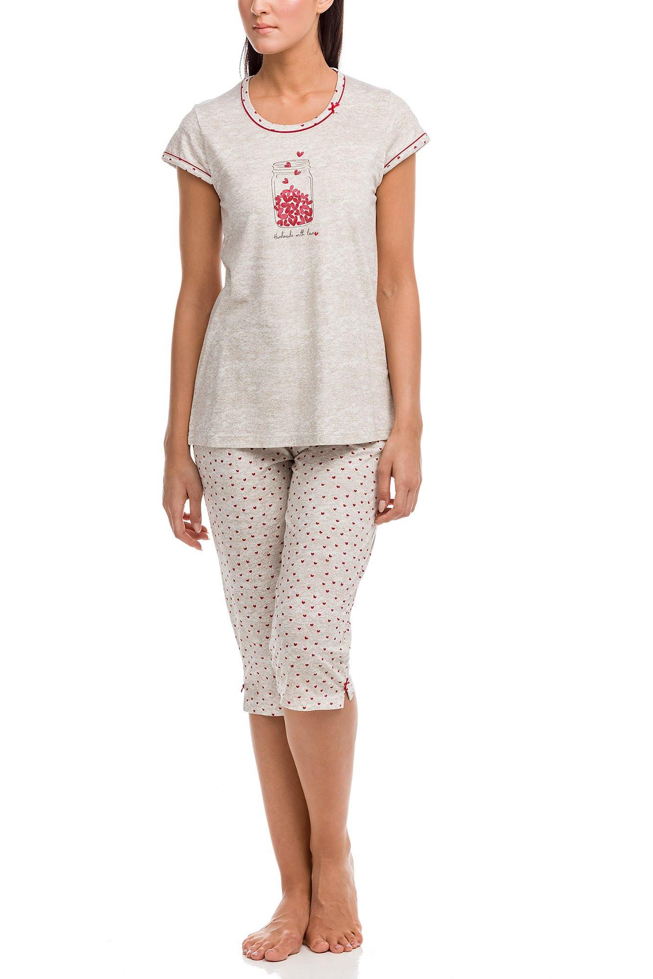 Vamp - Dámske pyžamo 12100 - Vamp beige s