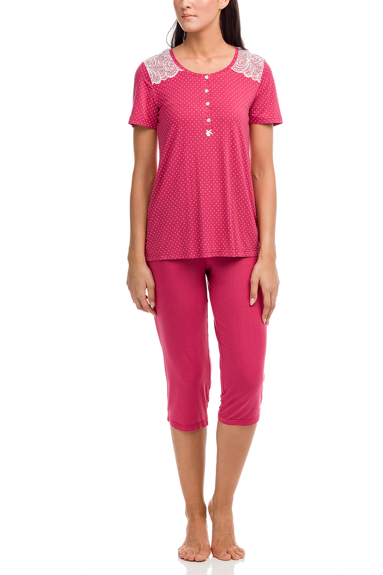 Vamp - Dámske pyžamo 12144 - Vamp red bud xl