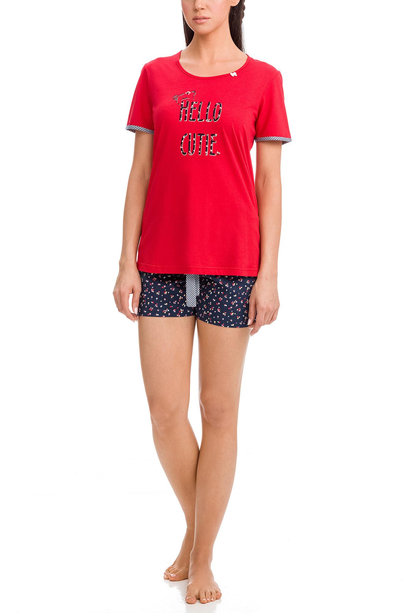 Vamp - Dámske pyžamo 12418 - Vamp red s