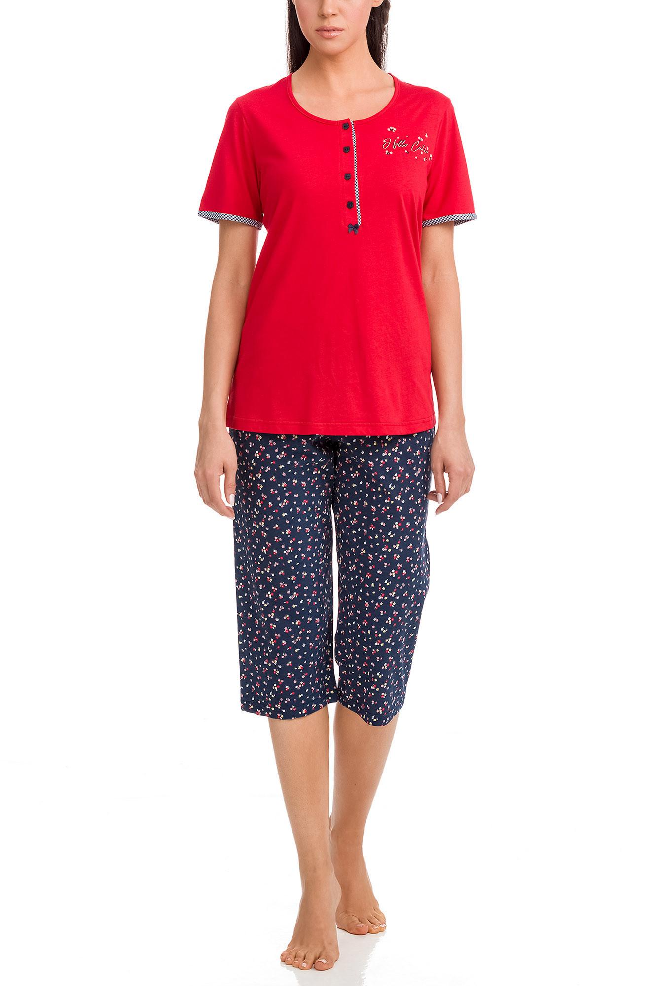 Vamp - Dámske pyžamo 12422 - Vamp red xl