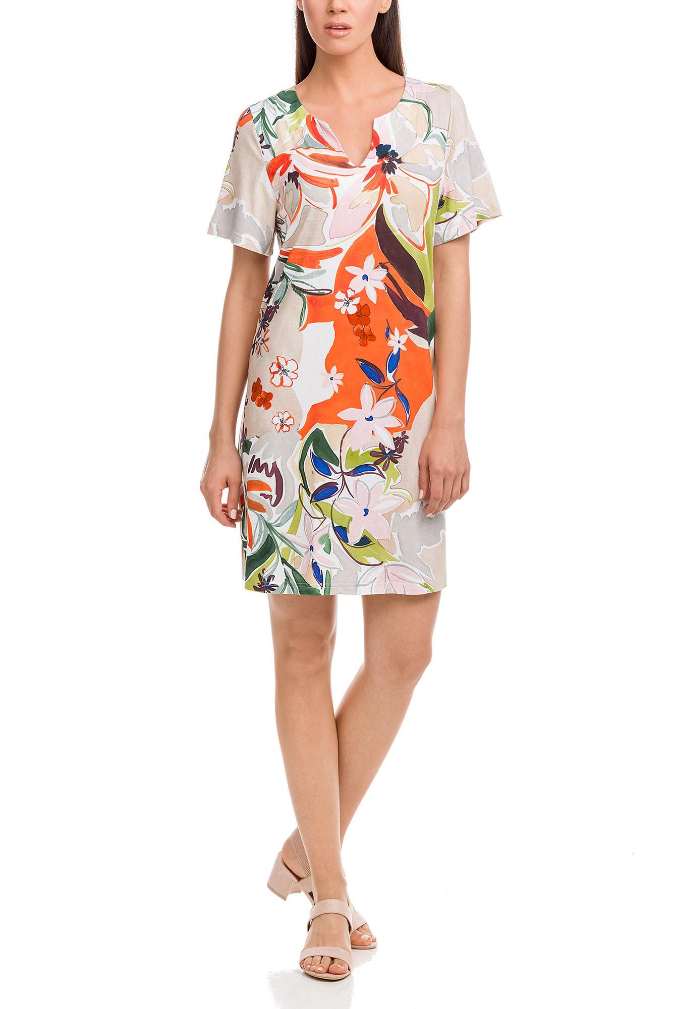 Vamp - Dámske letné šaty 12471 - Vamp beige peach xxl
