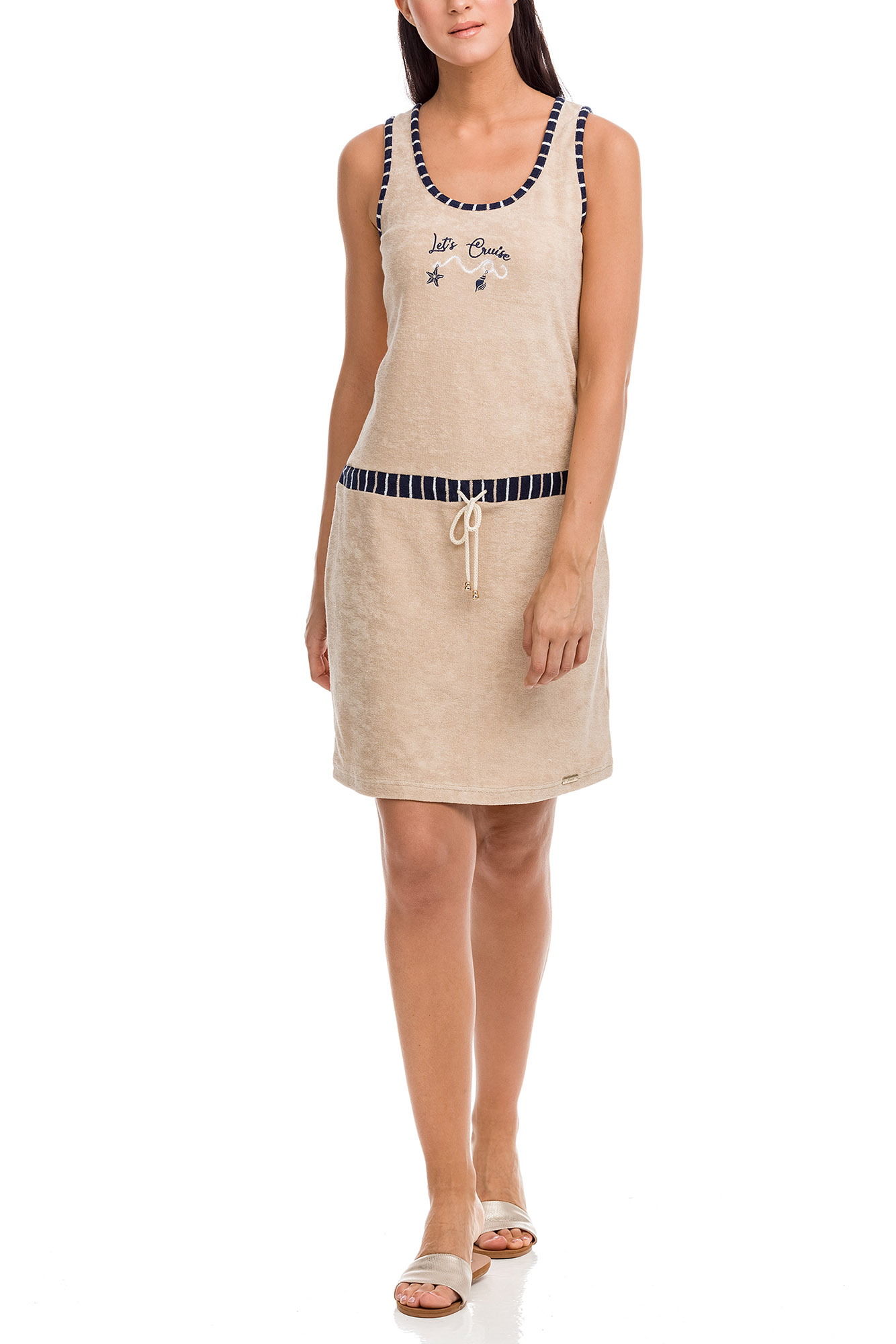 Vamp - Dámske šaty 12578 - Vamp beige peach xl