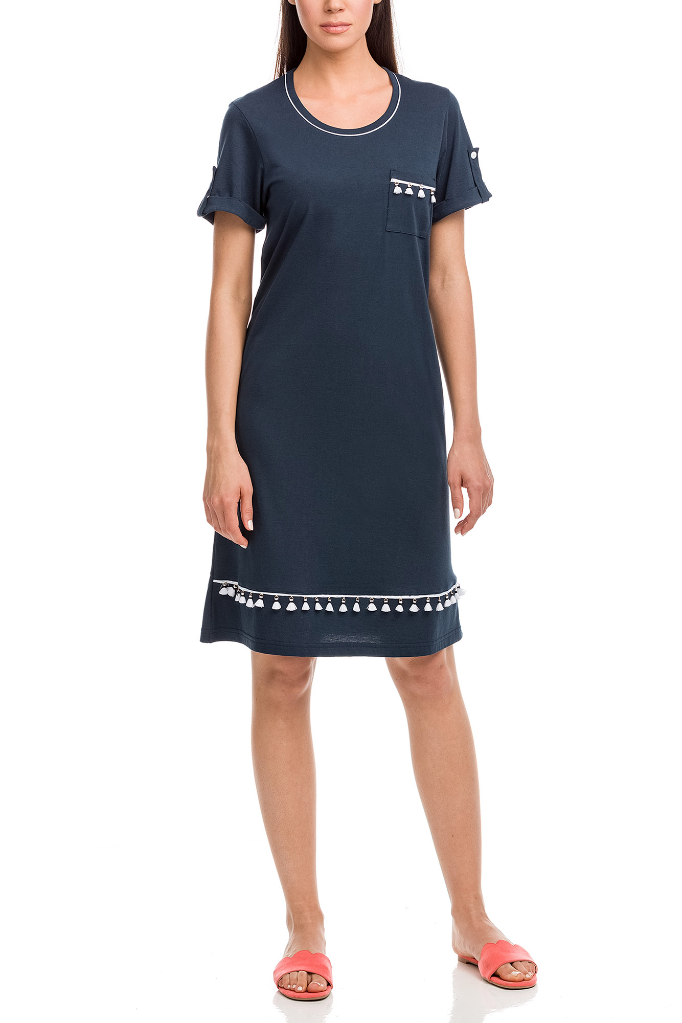 Vamp - Dámske šaty 12595 - Vamp blue oxford 4XL
