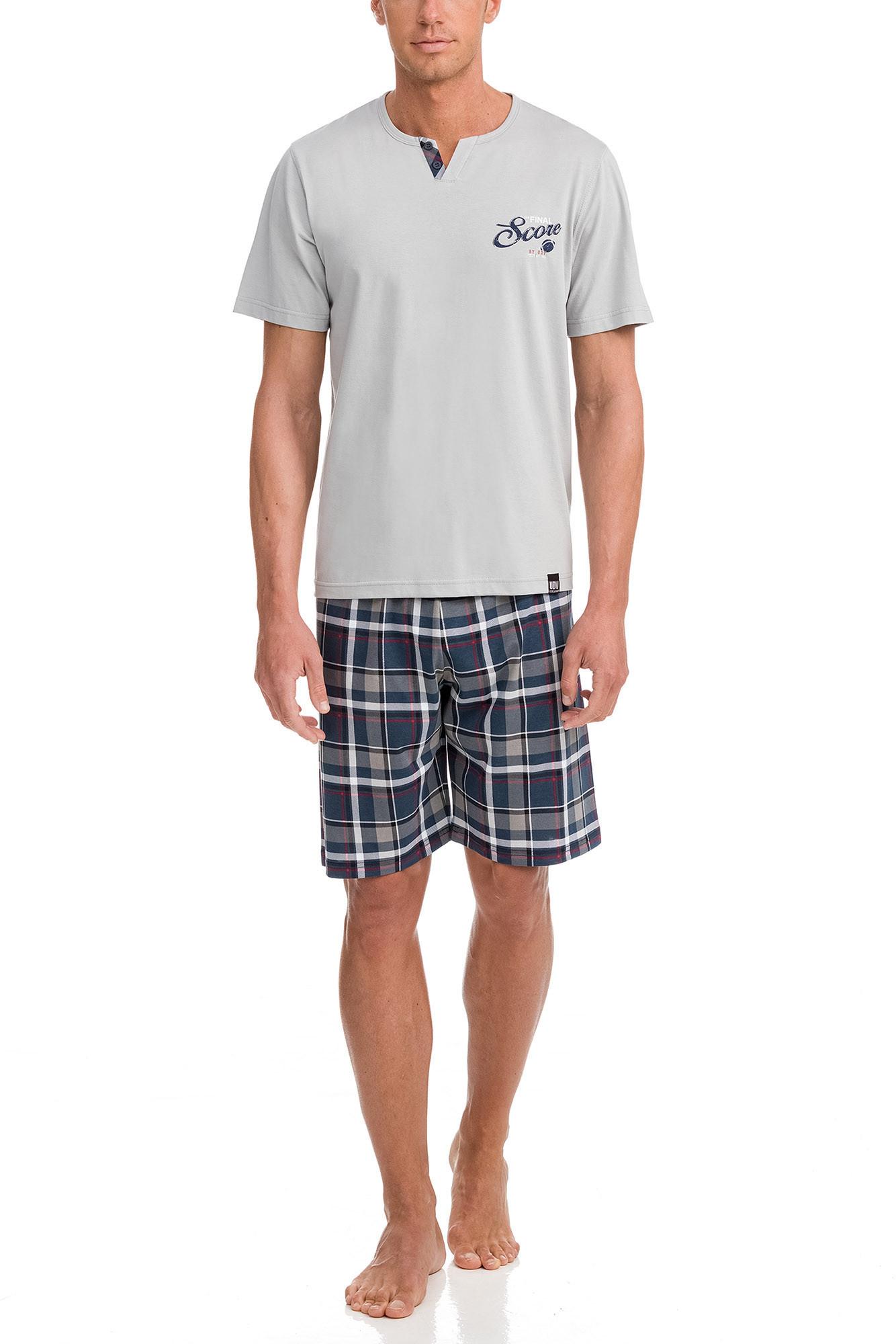 Vamp - Pánske pyžamo 12603 - Vamp light gray m