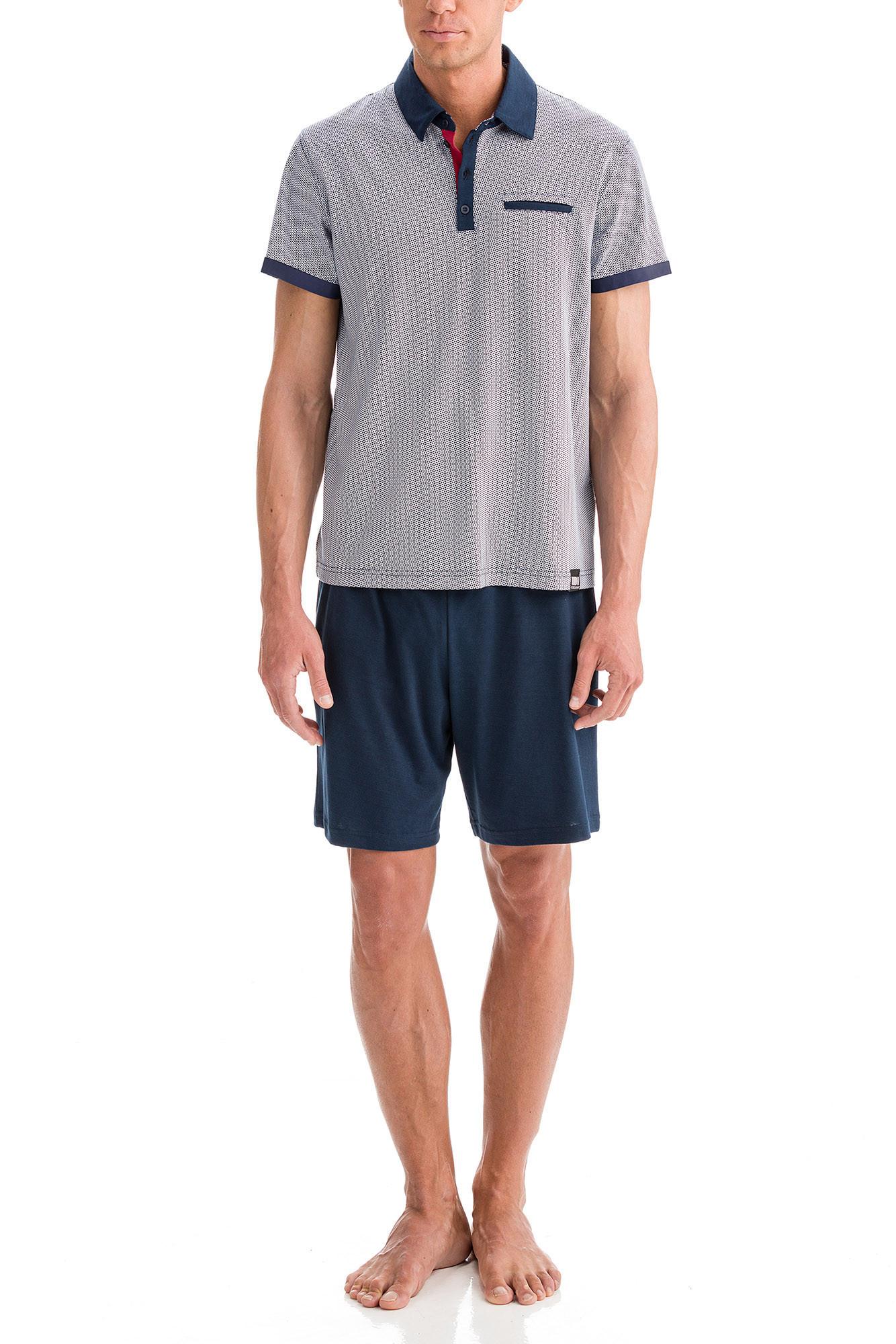 Vamp - Pánske pyžamo 12616 - Vamp blue oxford m