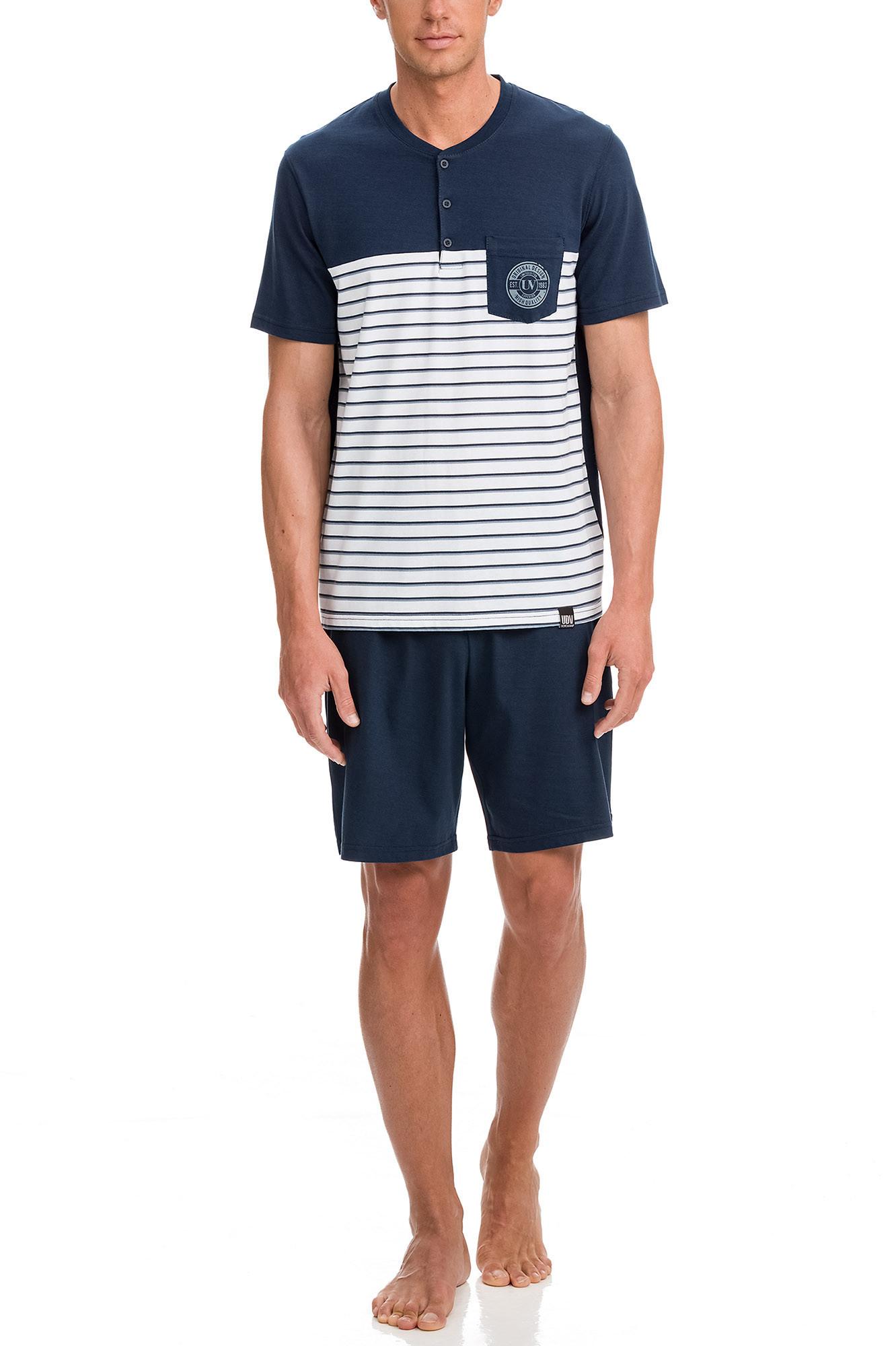 Vamp - Pánske pyžamo 12646 - Vamp blue oxford m