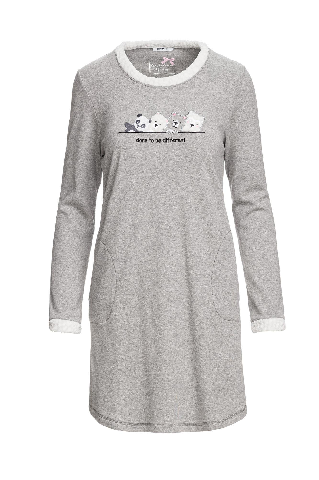 Vamp - Pohodlná nočná košeľa 13537 - Vamp gray melange xl