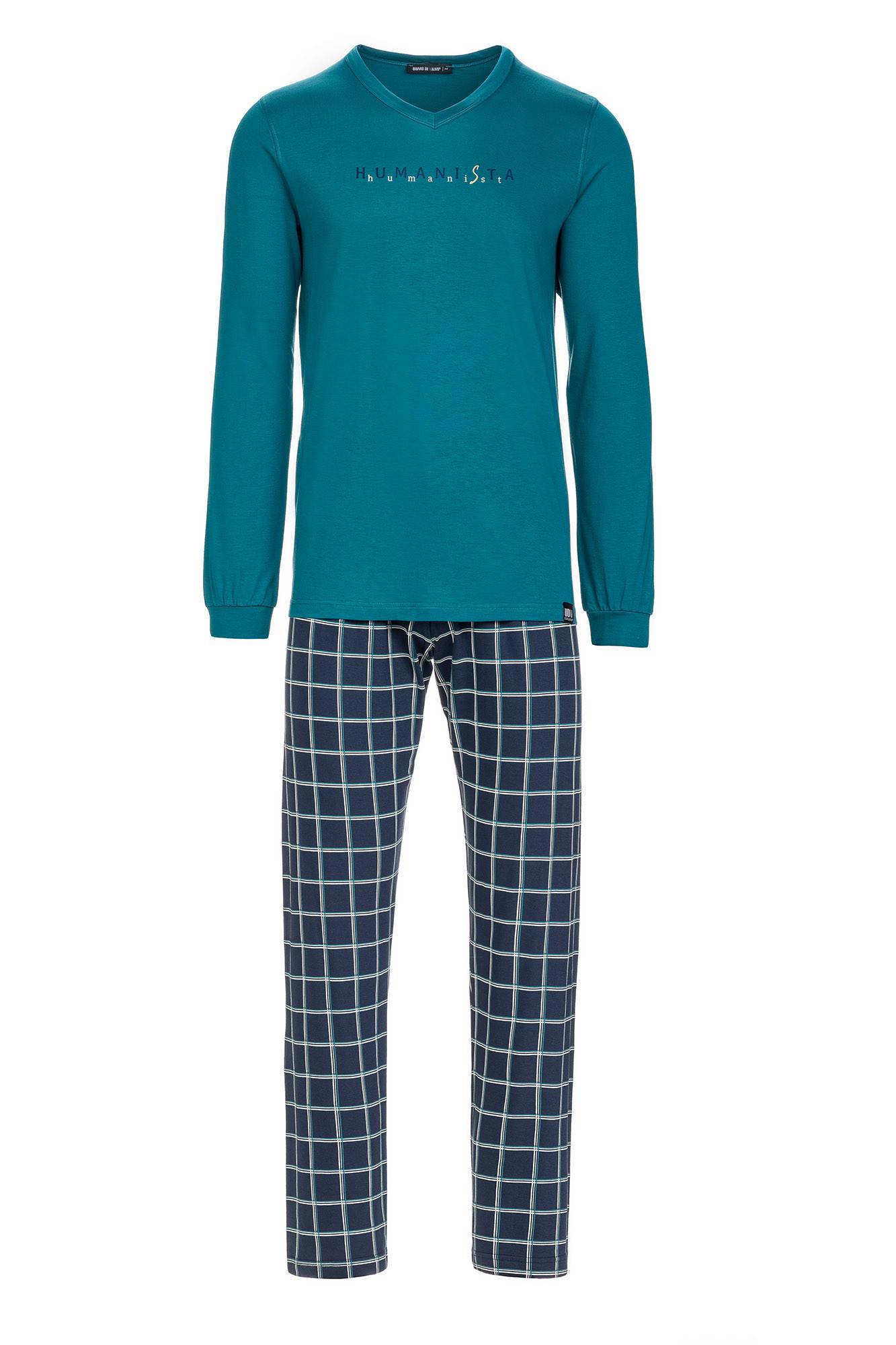 Vamp - Pánske pohodlné pyžamo 13625 - Vamp petrol 3XL