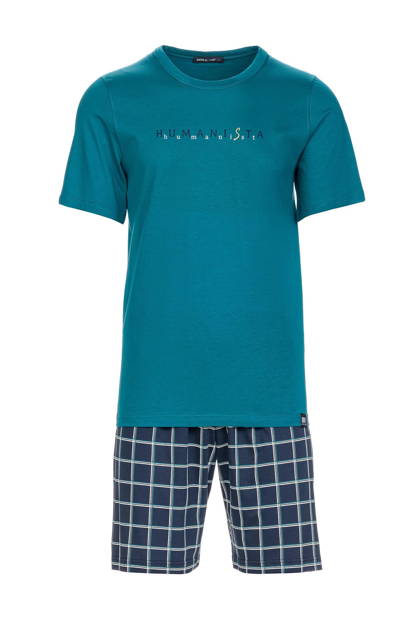 Vamp - Pánske pohodlné pyžamo 13628 - Vamp petrol xxl