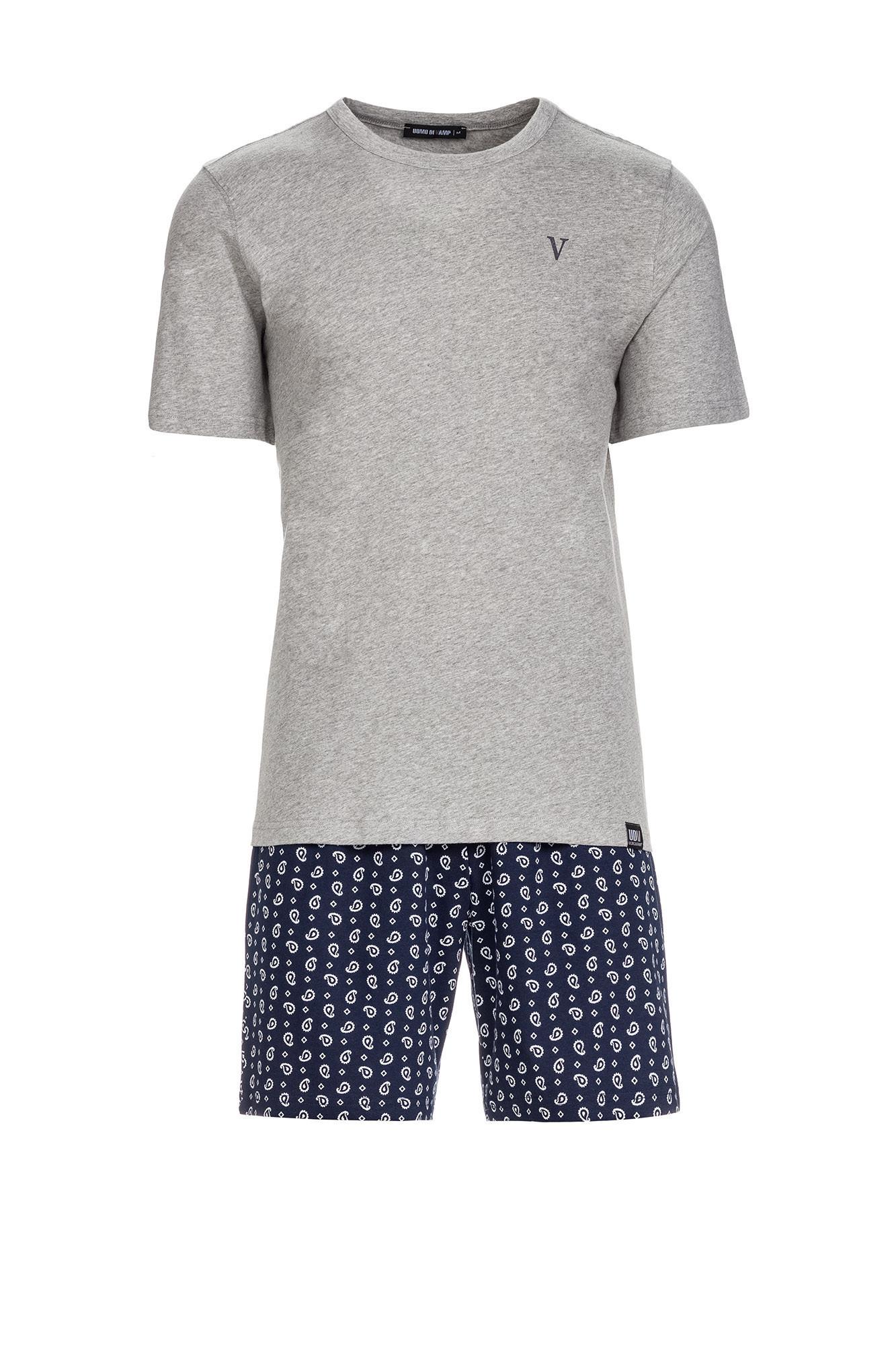 Vamp - Pánske pyžamo 13660 - Vamp gray melange m