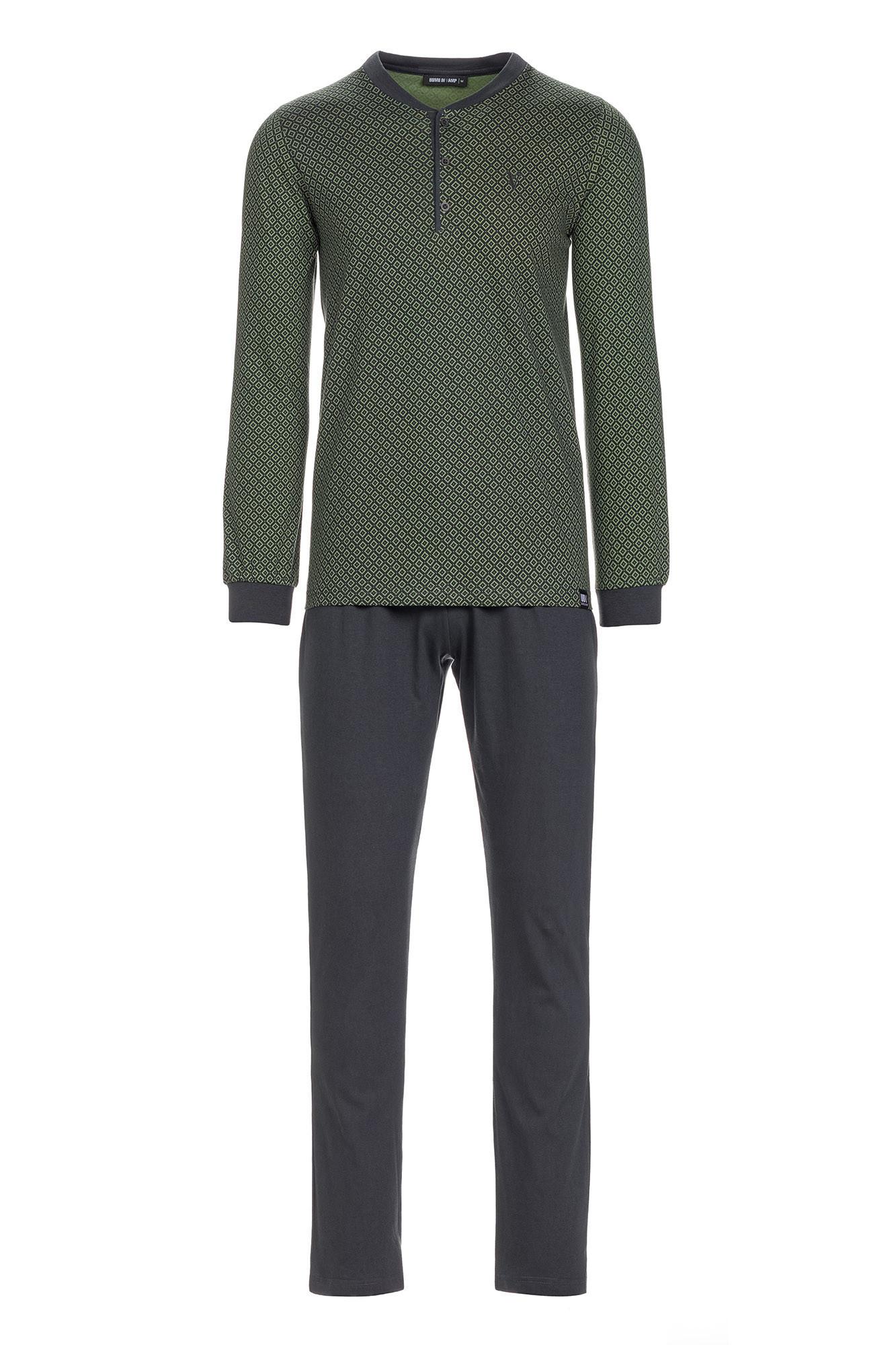 Vamp - Pánske pohodlné pyžamo 13671 - Vamp khaki 4XL