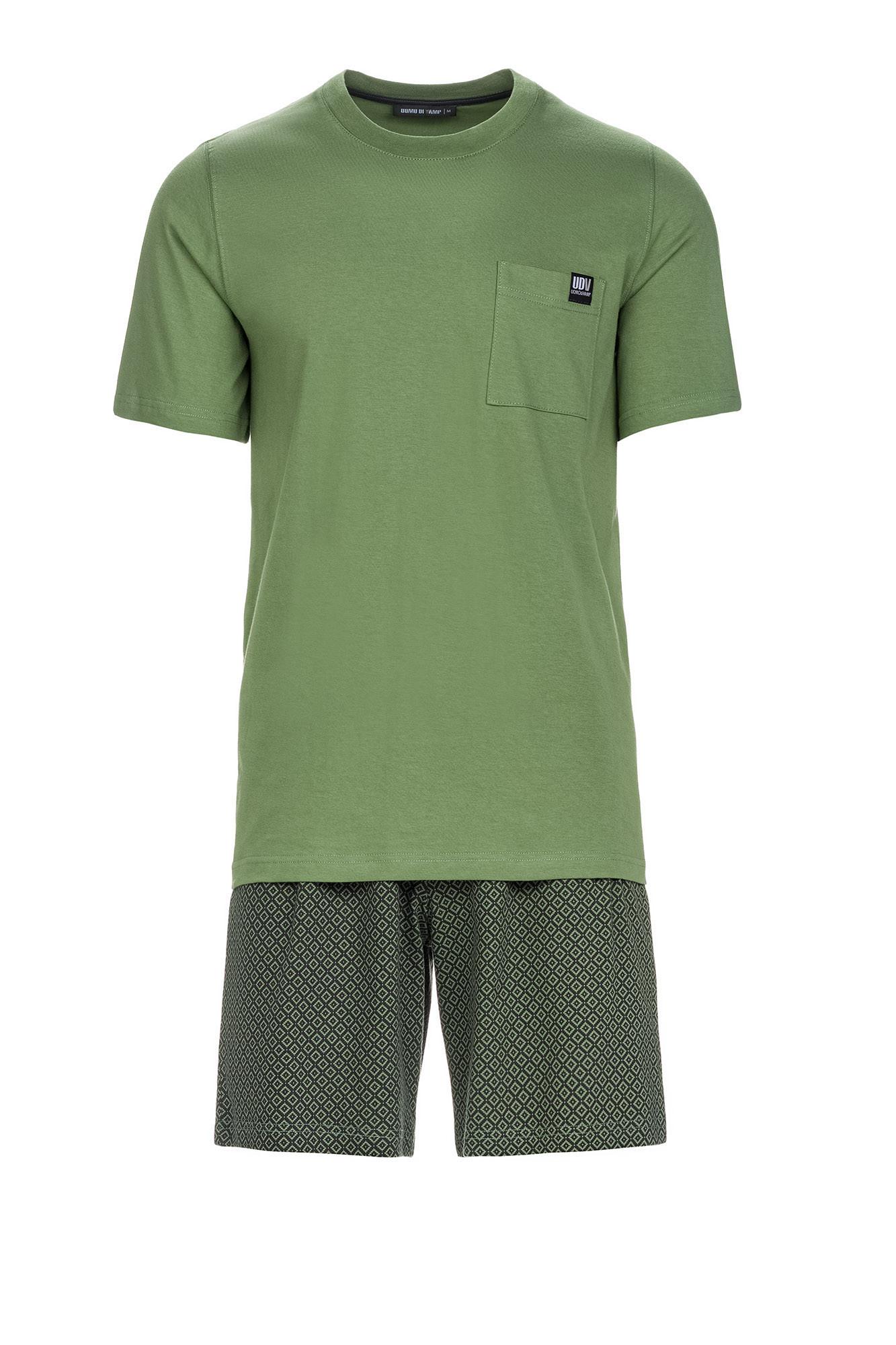 Vamp - Pohodlné pánske pyžamo 13674 - Vamp khaki xxl