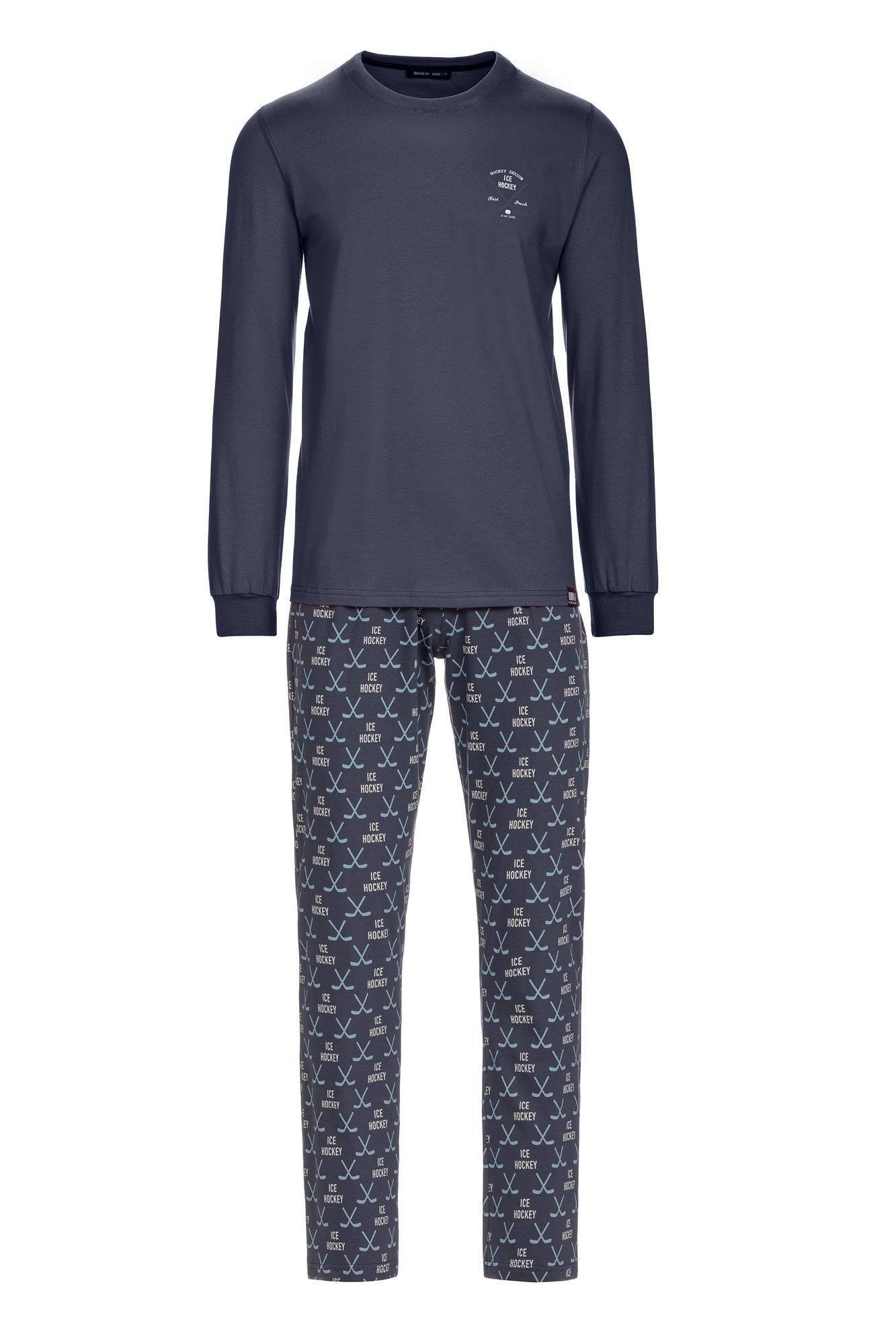 Vamp - Pánske pyžamo 13690 - Vamp gray ombre 4XL