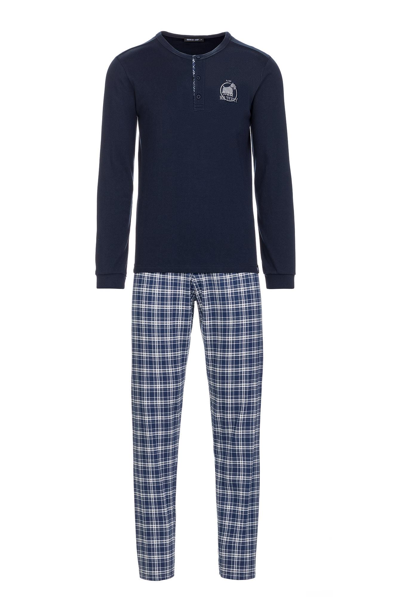 Vamp - Pánske pohodlné pyžamo 13700 - Vamp blue xxl