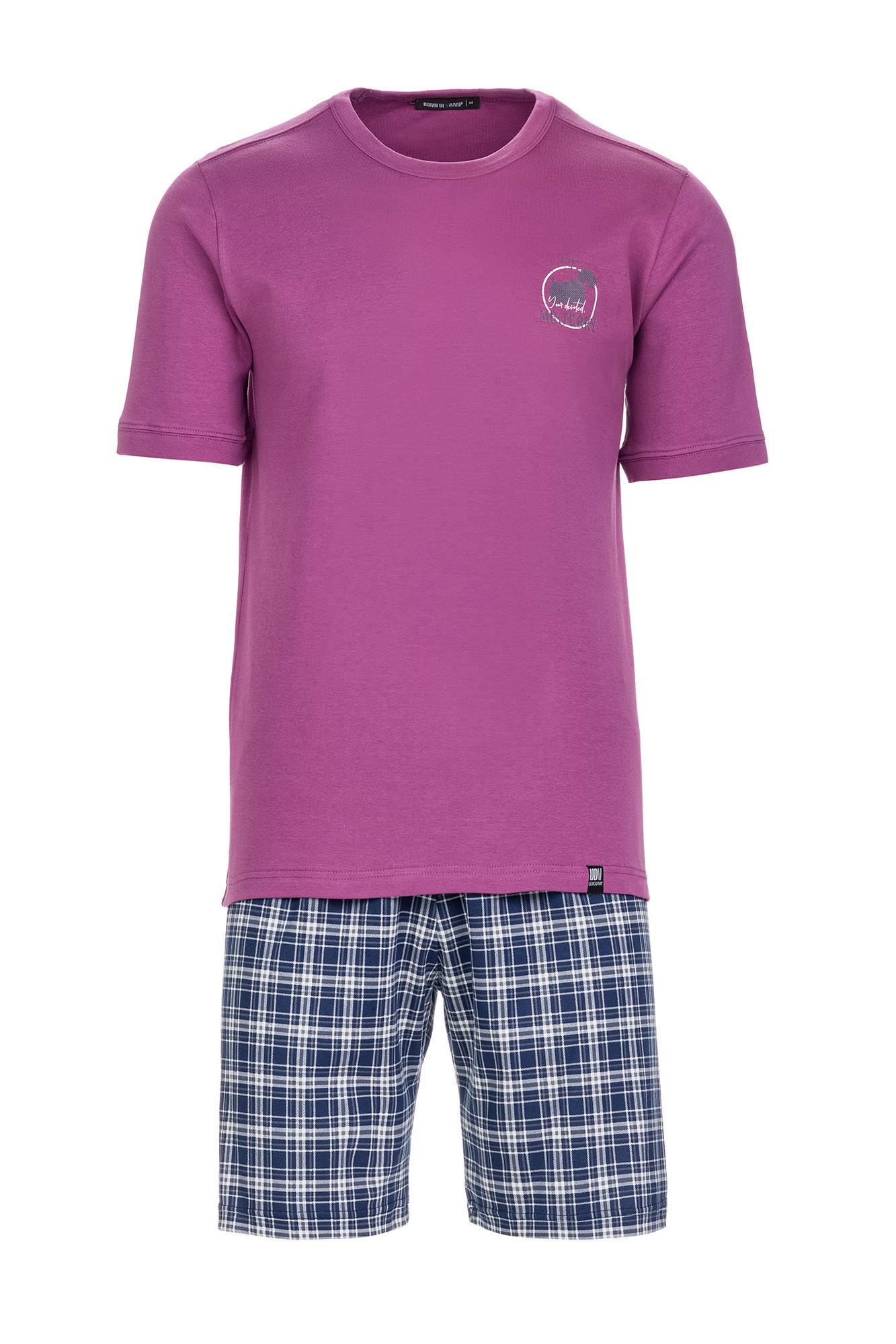 Vamp - Pánske pohodlné pyžamo 13702 - Vamp purple royal xl