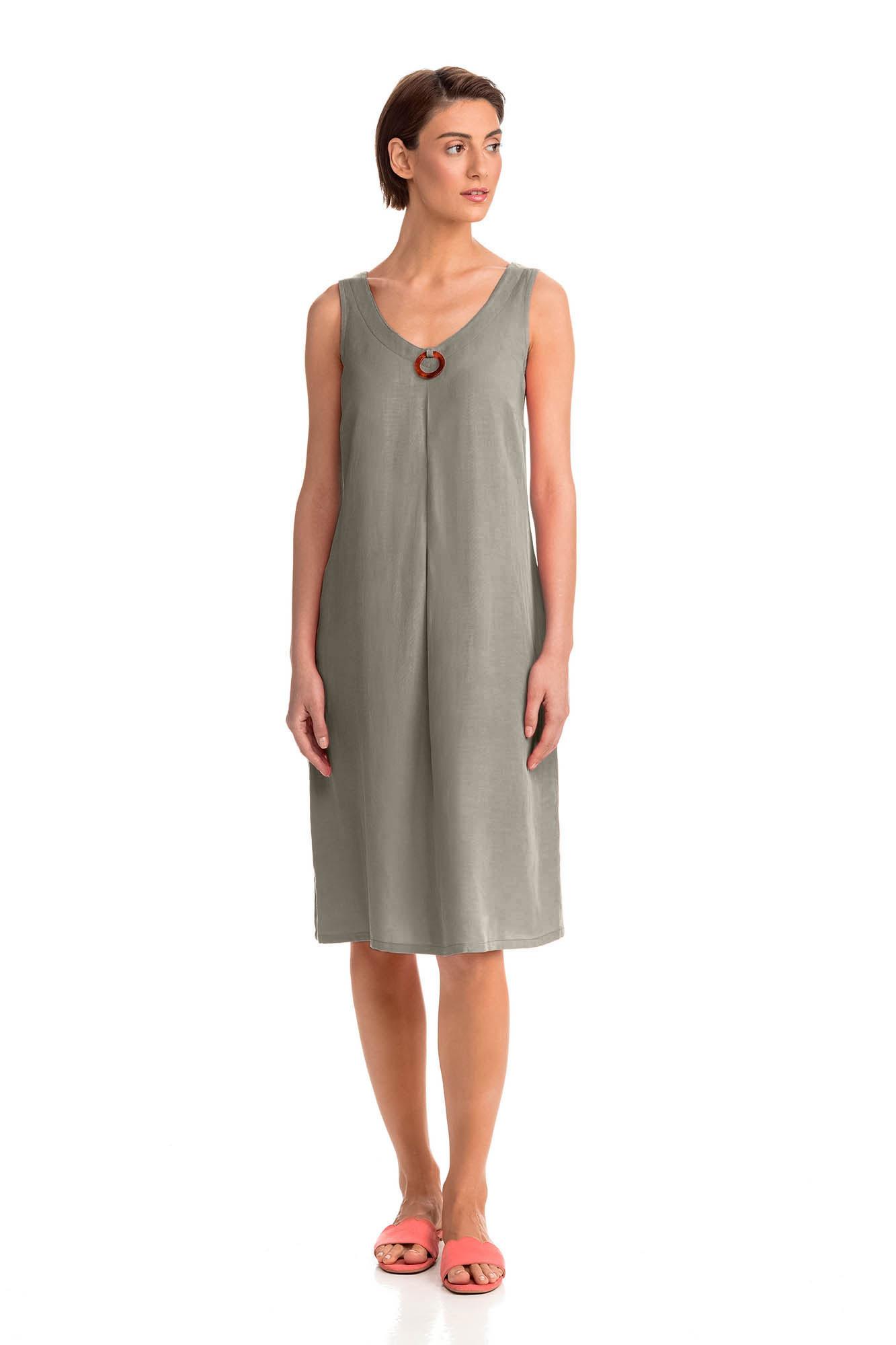 Vamp - Letné dámske šaty 14443 - Vamp green sage s