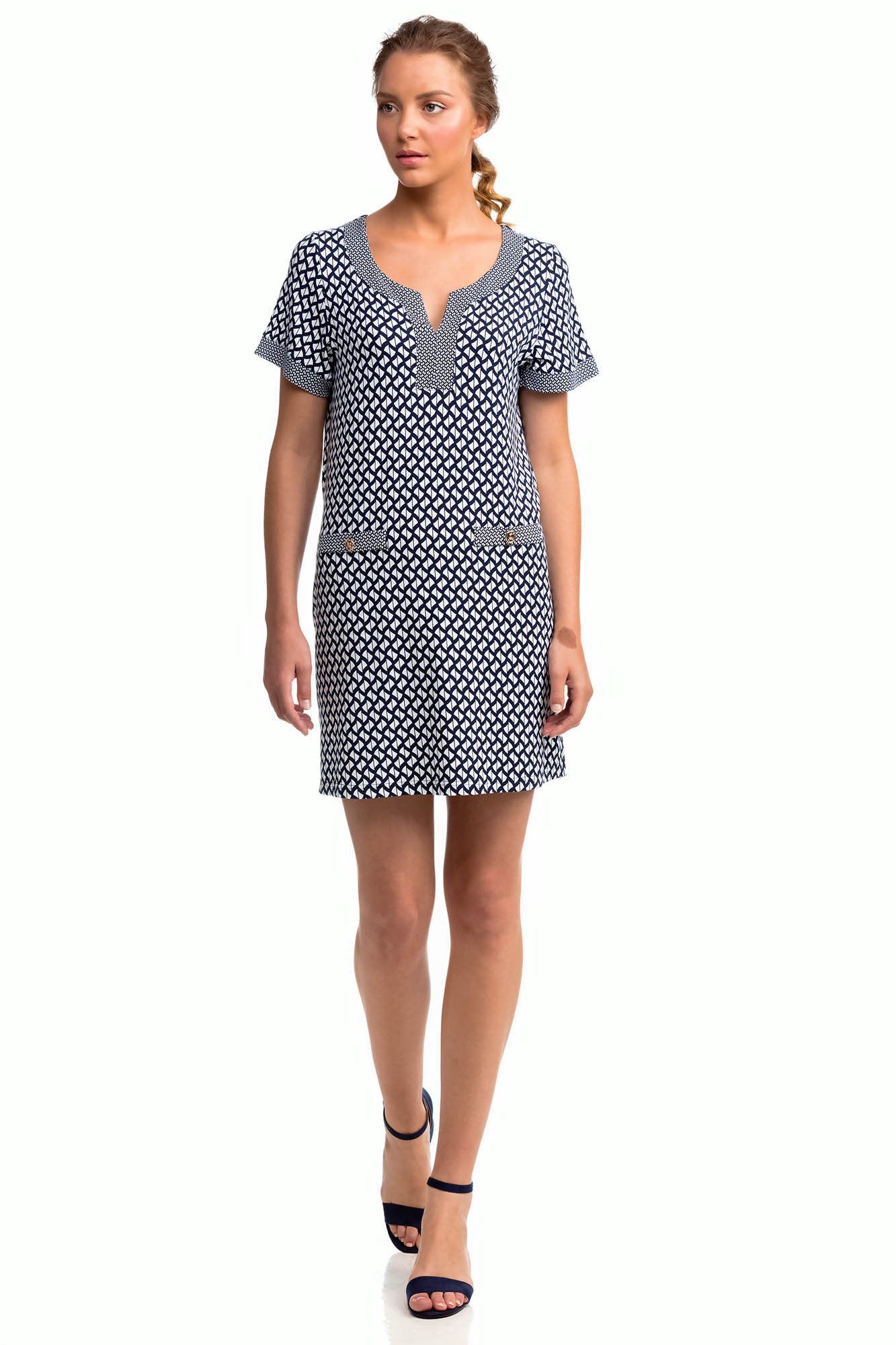 Vamp - Letné dámske šaty 14450 - Vamp blue m