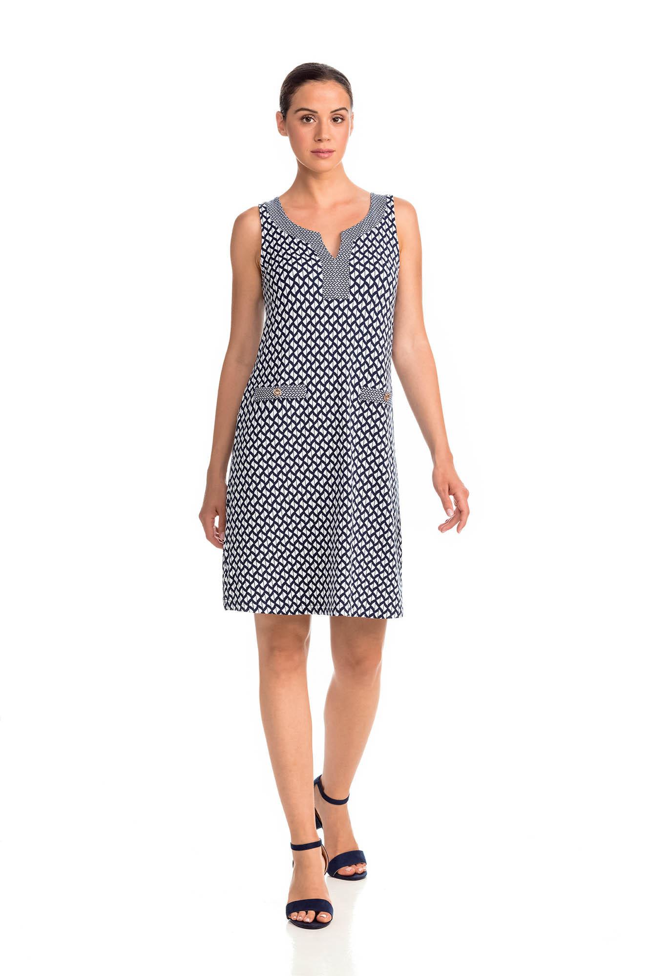Vamp - Letné dámske šaty 14451 - Vamp blue xl