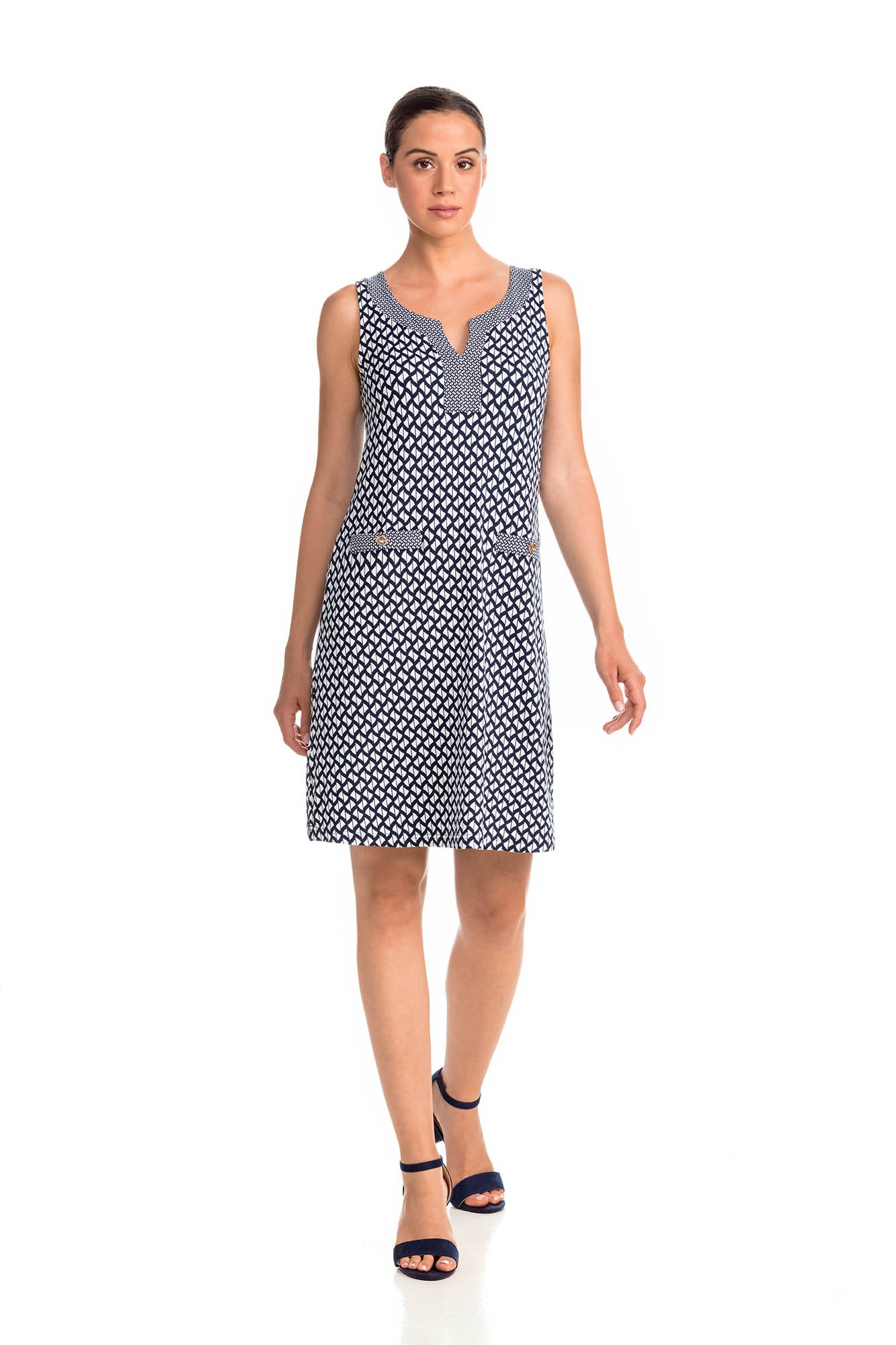Vamp - Letné dámske šaty 14451 - Vamp blue xxl