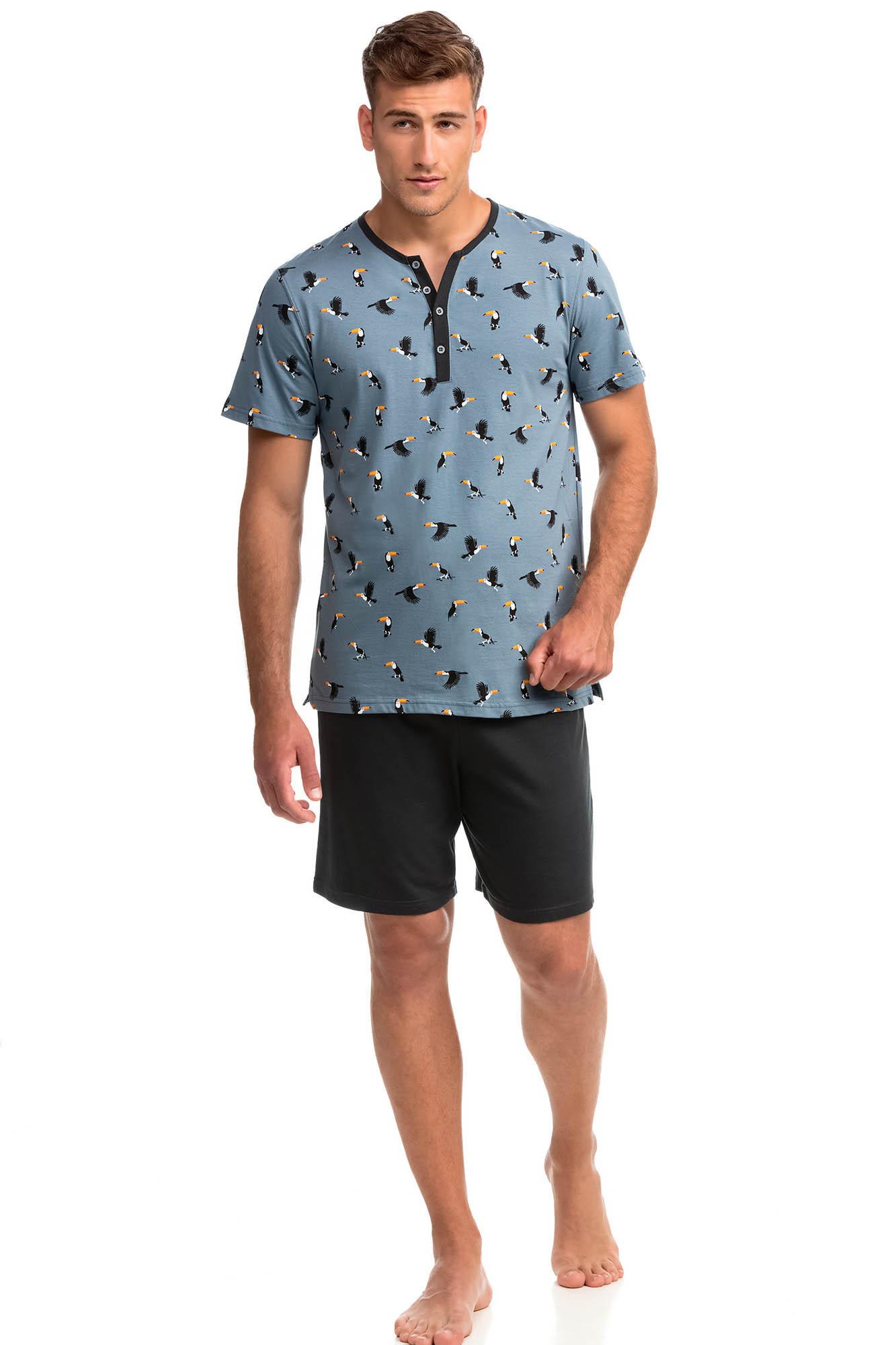 Vamp - Pohodlné dvojdielne pánske pyžamo 14731 - Vamp blue mirage xl