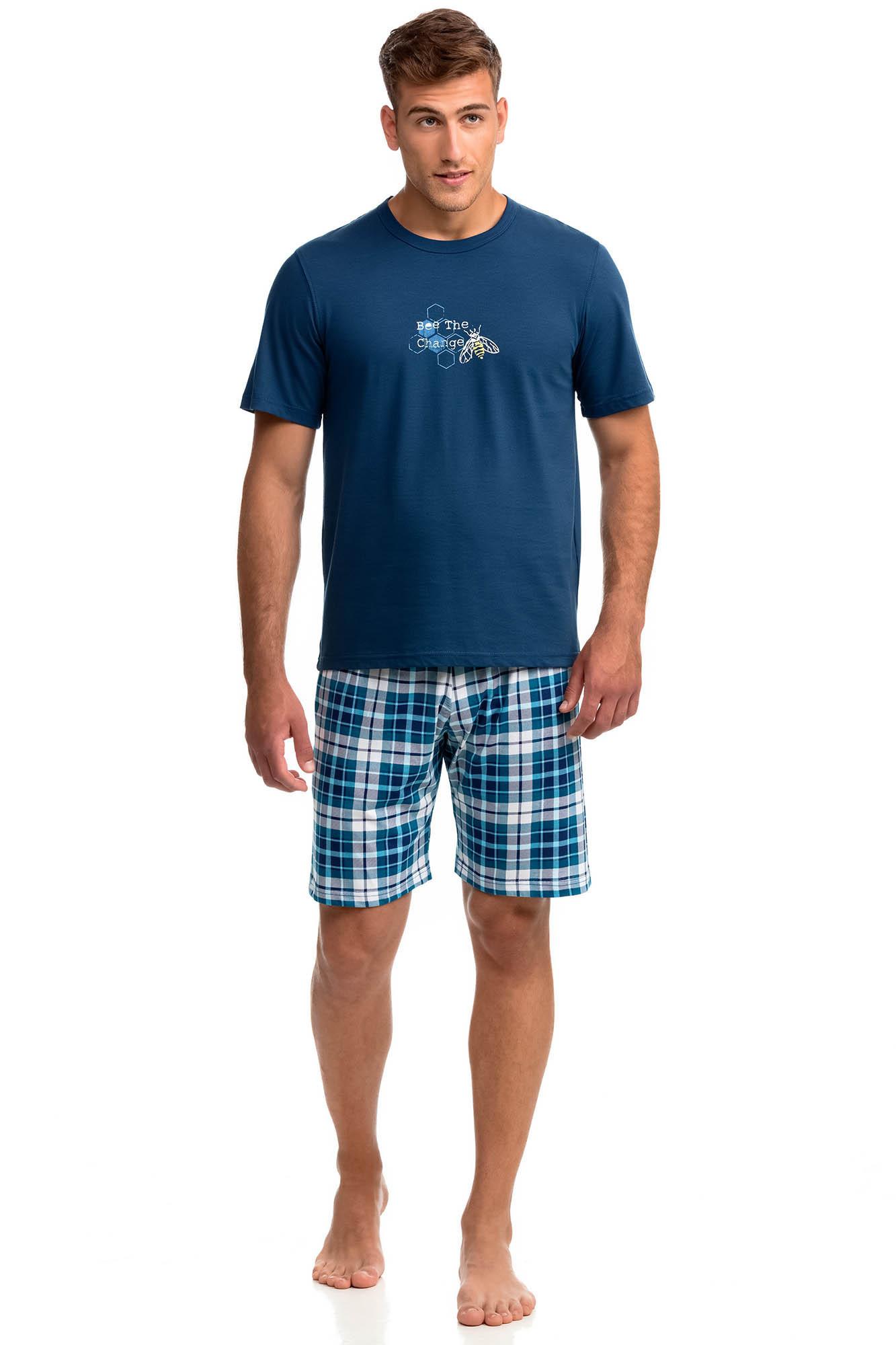 Vamp - Pohodlné dvojdielne pánske pyžamo 14778 - Vamp blue marine xxl