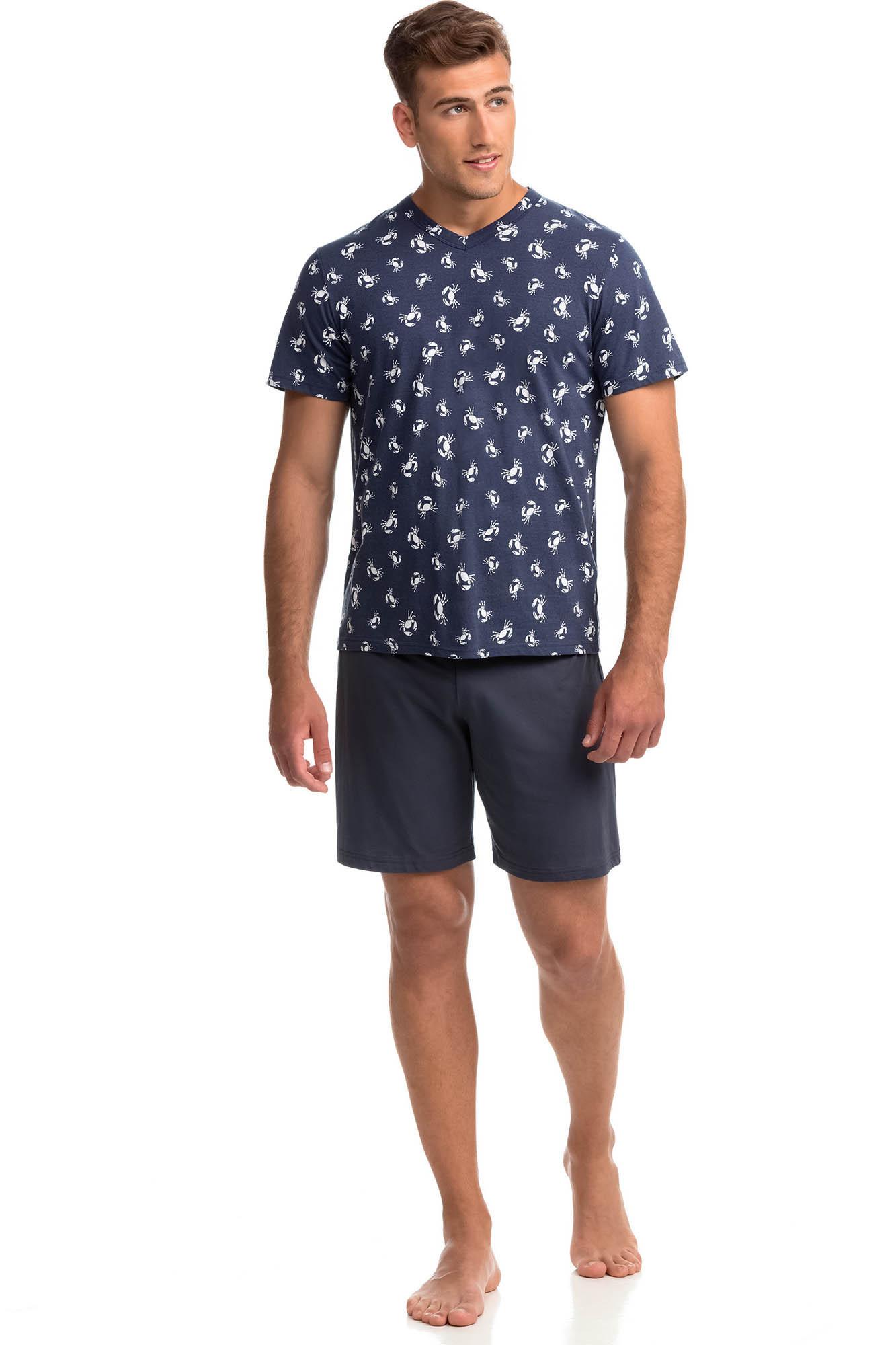 Vamp - Pohodlné dvojdielne pánske pyžamo 14790 - Vamp gray ombre xl