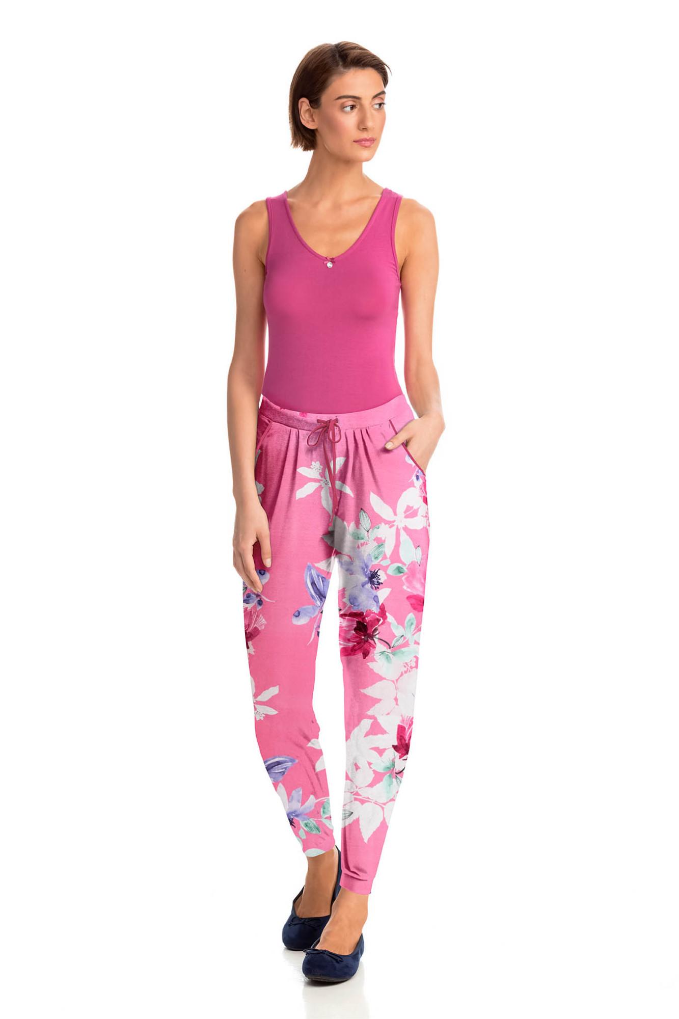 Vamp - Dámske štýlové pyžamové nohavice 14927 - Vamp fuchsia m