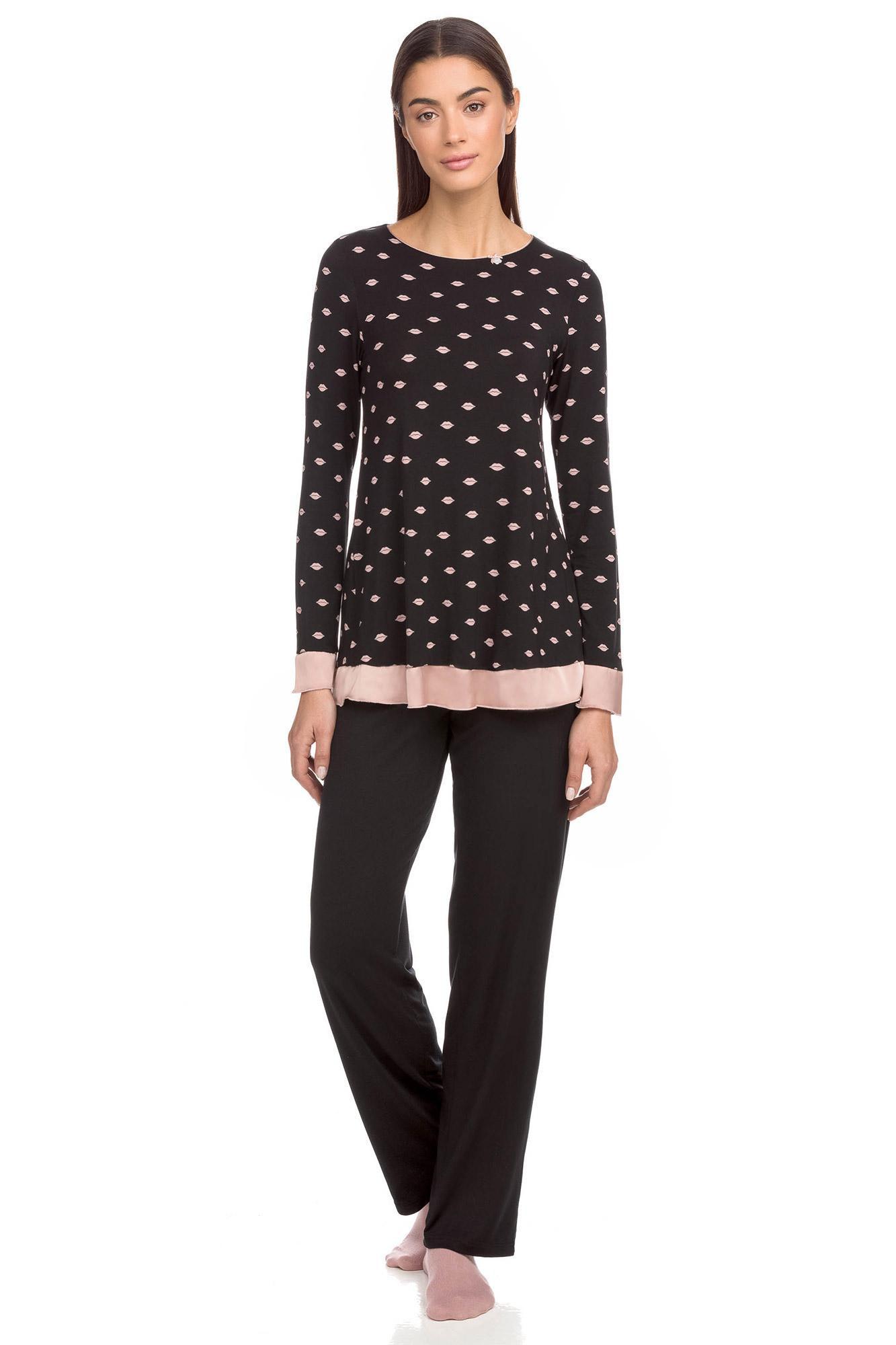 Vamp - Pohodlné dámske dvojdielne pyžamo 15184 - Vamp černá s