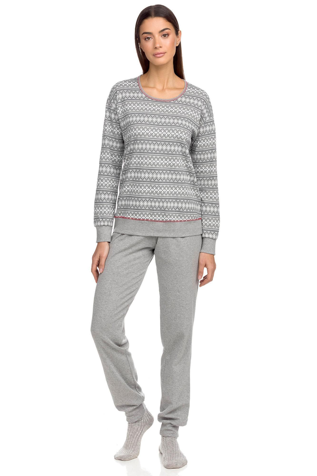 Vamp - Pohodlné dámske pyžamo 15676 - Vamp gray melange l