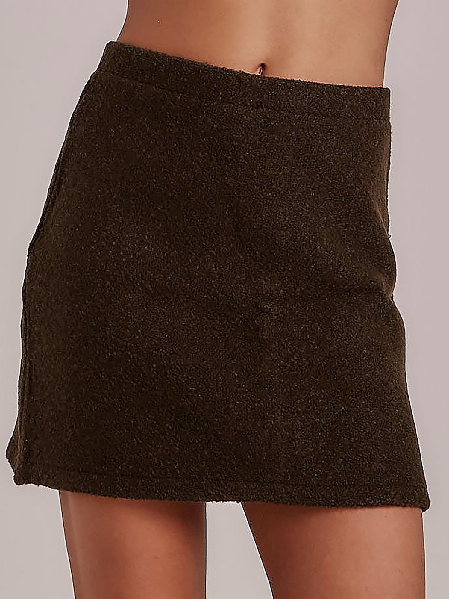 Mini Boucle khaki sukne S