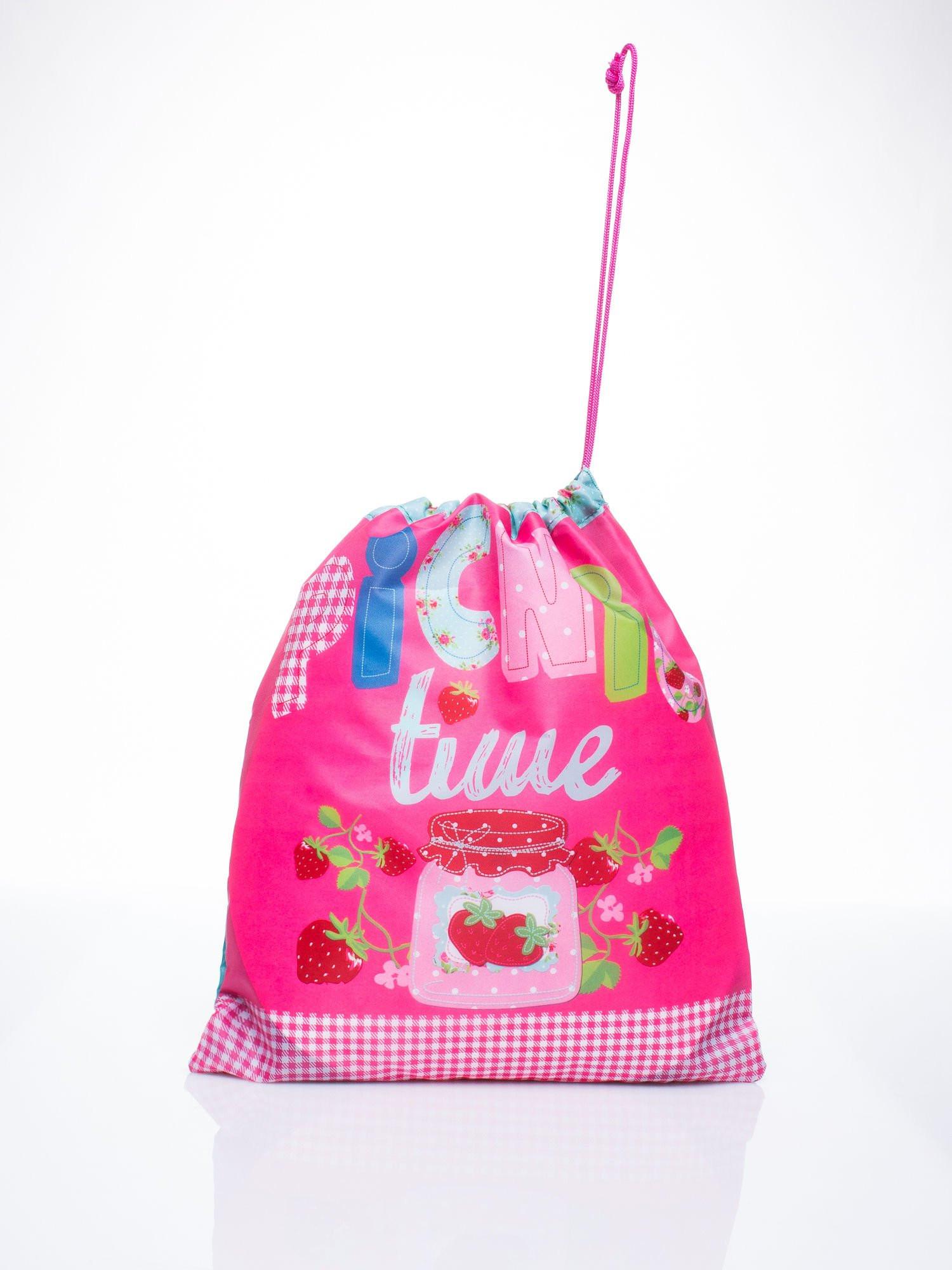 Ružová taška na chrbát s motívom pikniku one size