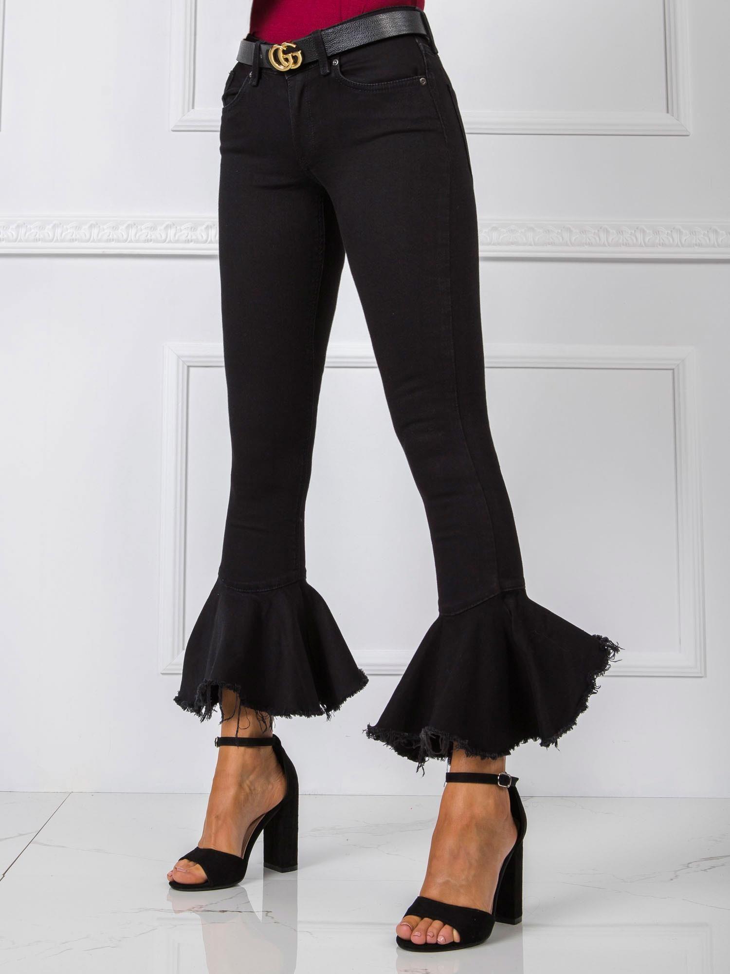RUE PARIS Čierne džínsové nohavice 24
