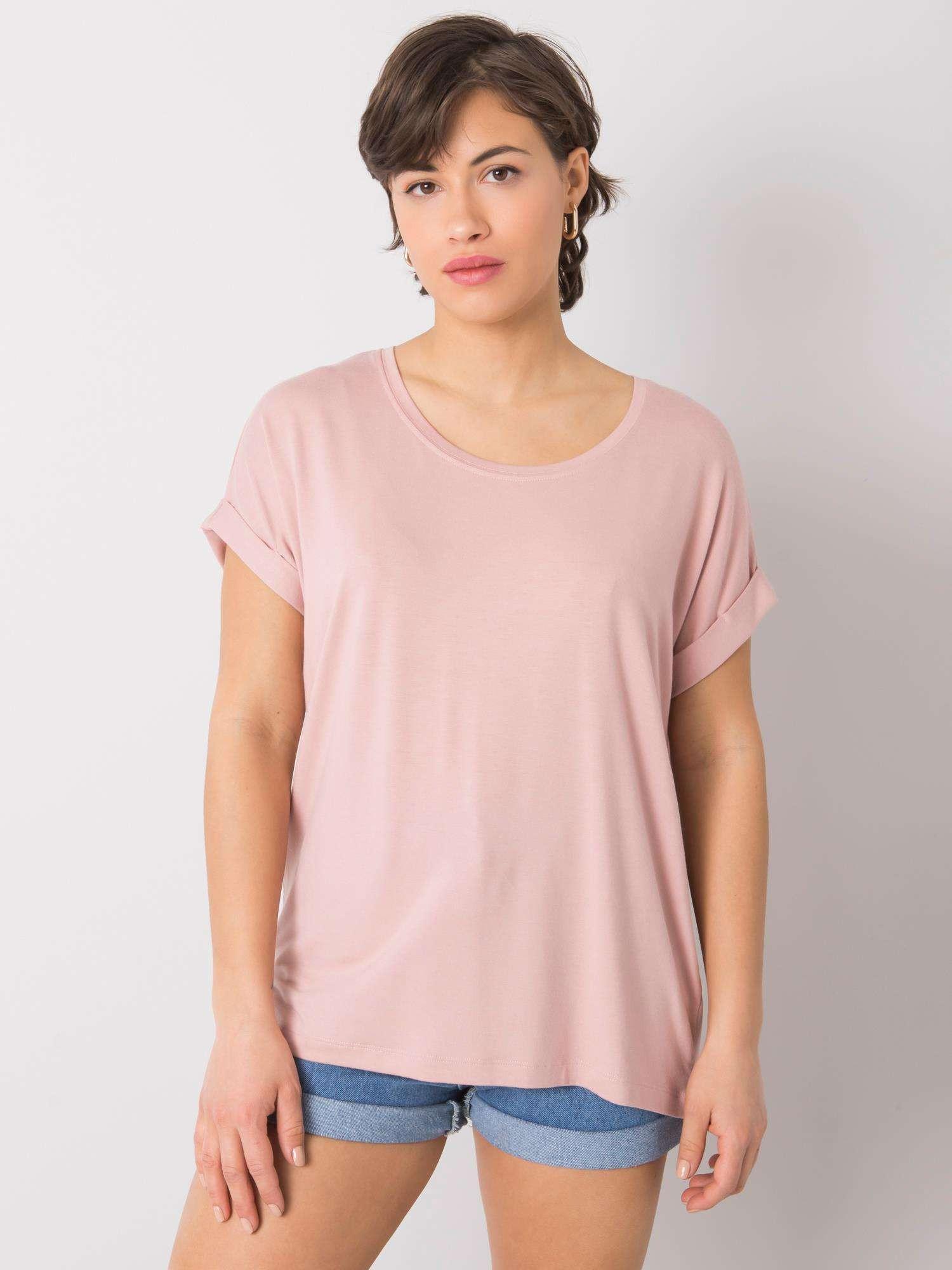 RUE PARIS Špinavé ružové dámske tričko XL