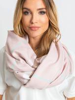 Světle růžový šátek s třásněmi ONE SIZE