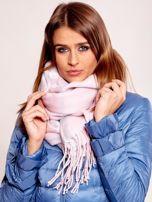 Růžový tartanový šátek s třásněmi ONE SIZE