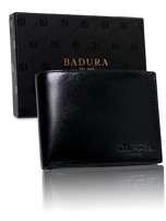 Čierna pánska peňaženka Badura z pravej kože one size