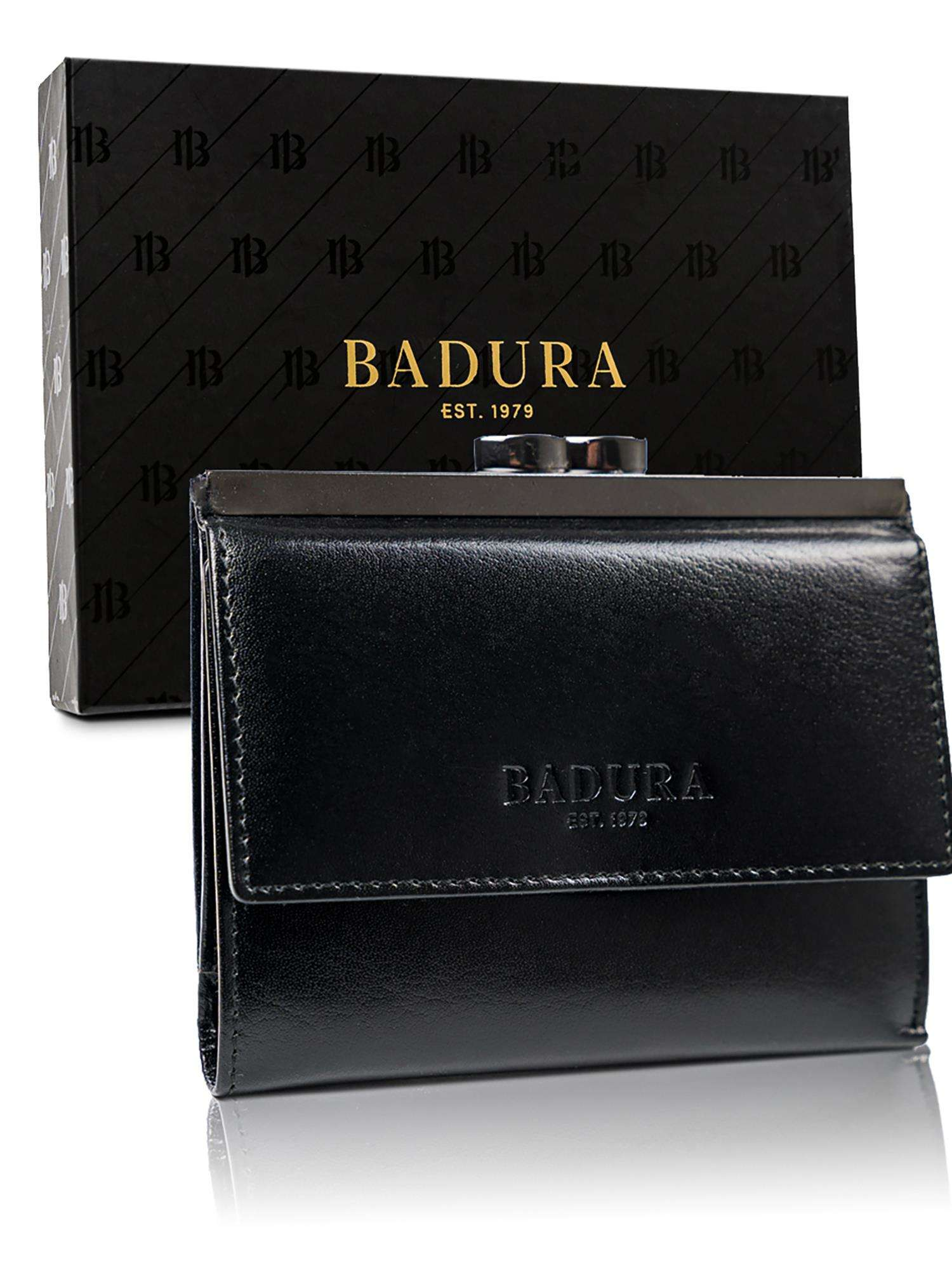 Čierna kožená pánska peňaženka Badura one size