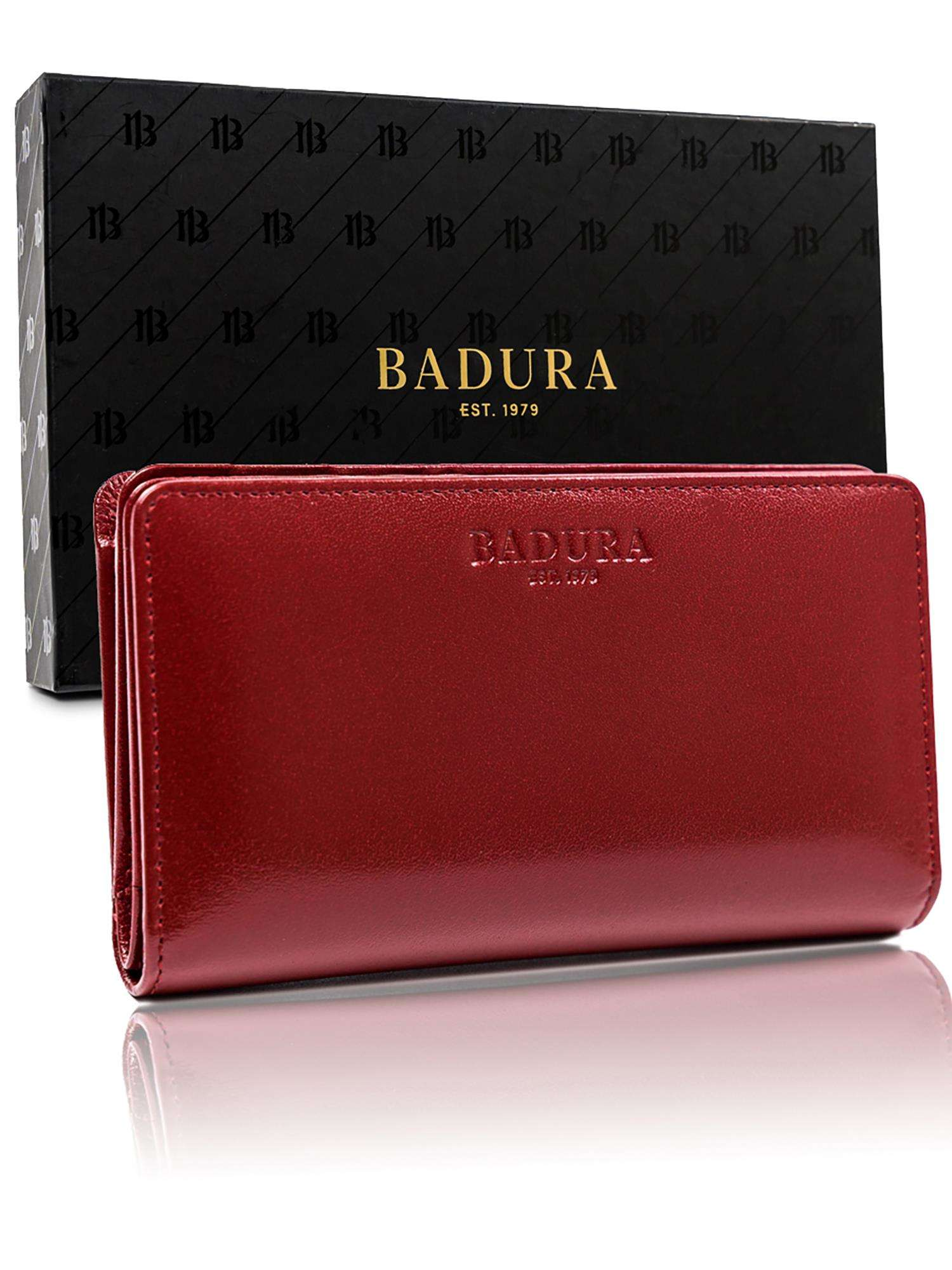 Badura Červená podlhovastá pánska peňaženka one size
