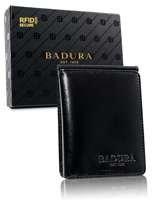 Badura Malá čierna kožená peňaženka univerzální