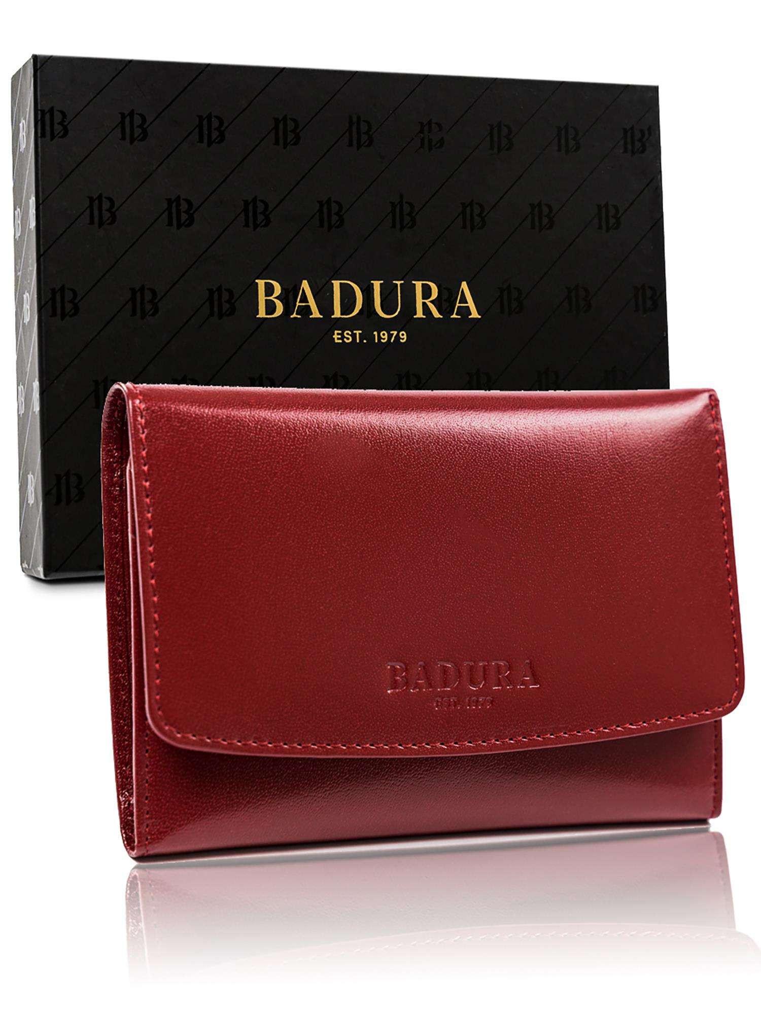 Pánska kožená peňaženka Badura červená one size