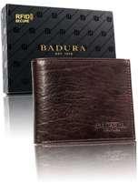 Hnedá pánska kožená peňaženka Badura one size