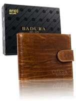 Badura Svetlo hnedá pánska kožená peňaženka one size