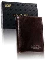 Badura Tmavo hnedá pánska kožená peňaženka one size