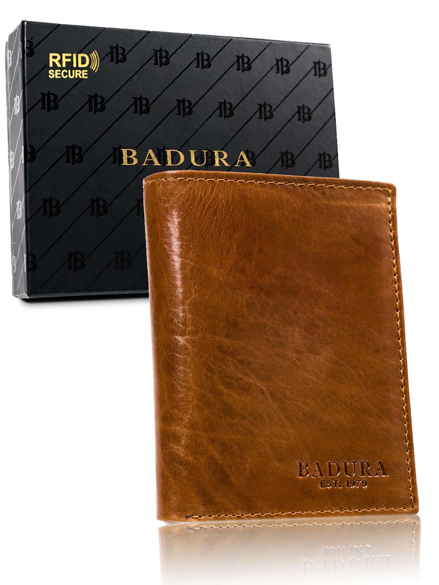 Badura Svetlo hnedá kožená pánska peňaženka one size