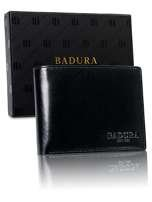 Pánska čierna kožená peňaženka Badura one size