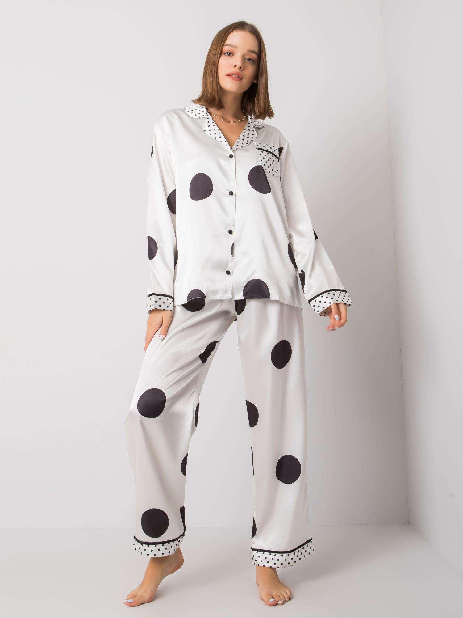 Dámske biele pyžamo s nohavicami S