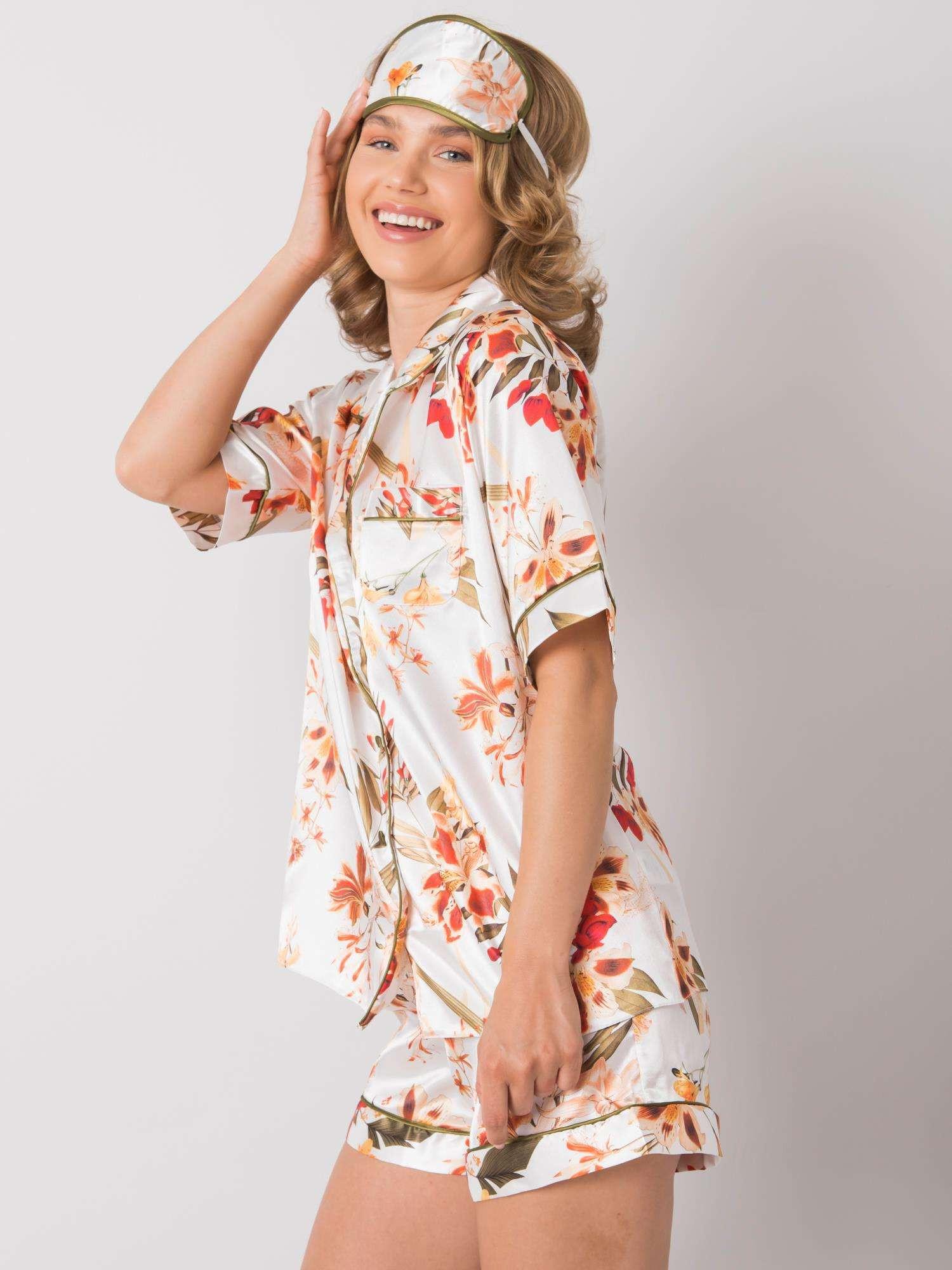 Dámske kvetinové pyžamo S