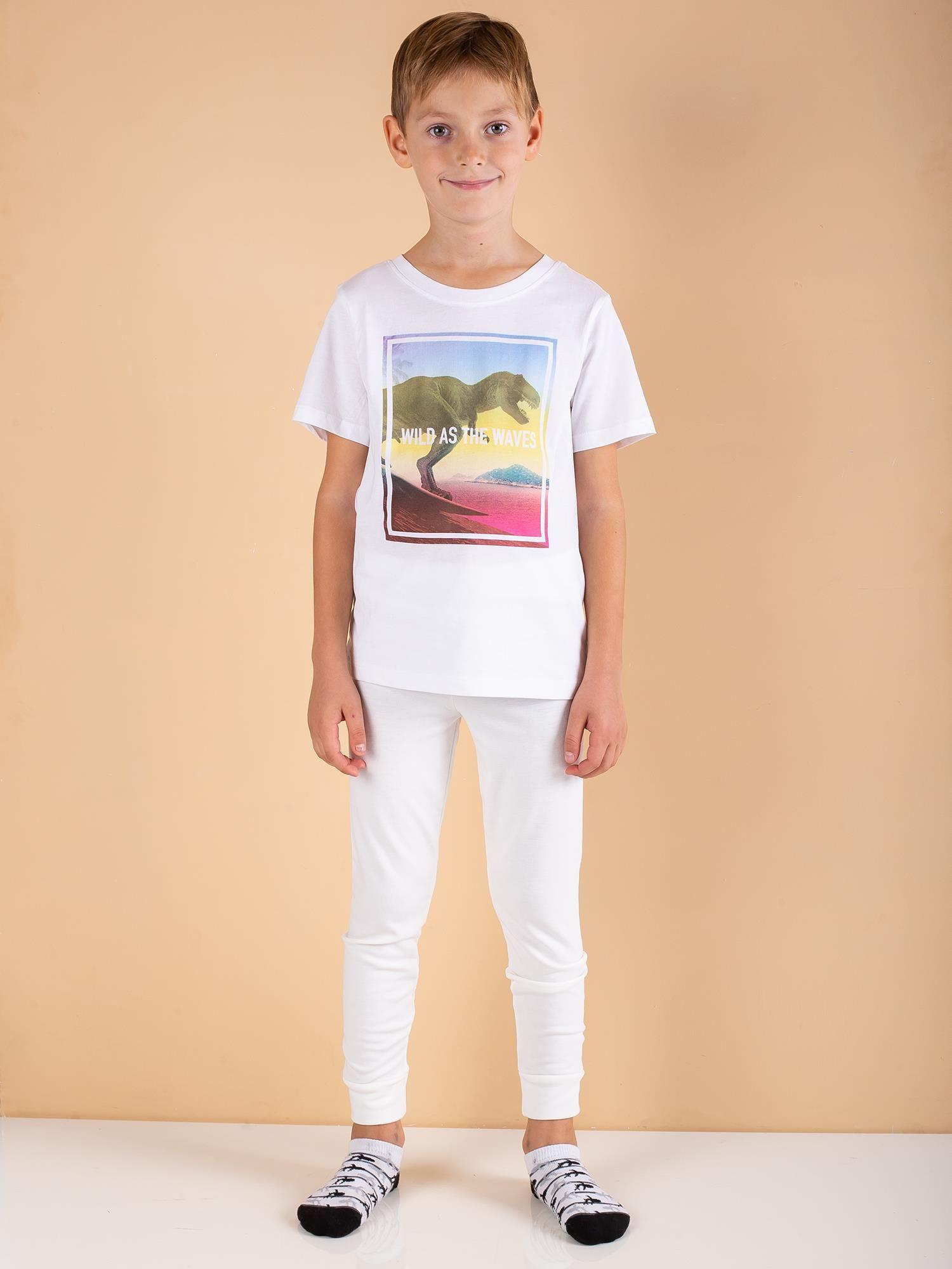 Chlapčenské termoaktívna ecru nohavice 110/116