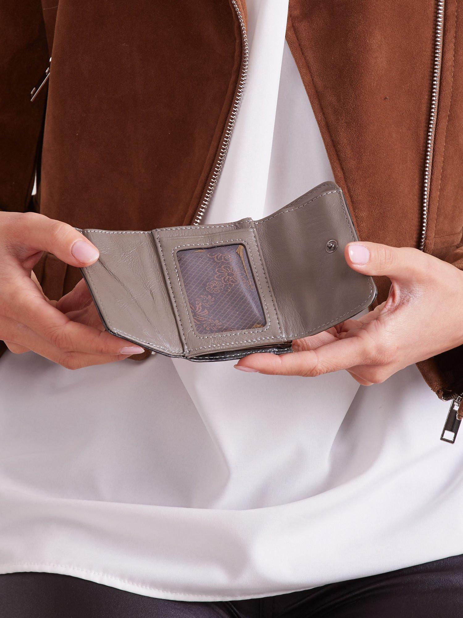 Khaki malá dámska kožená peňaženka univerzální
